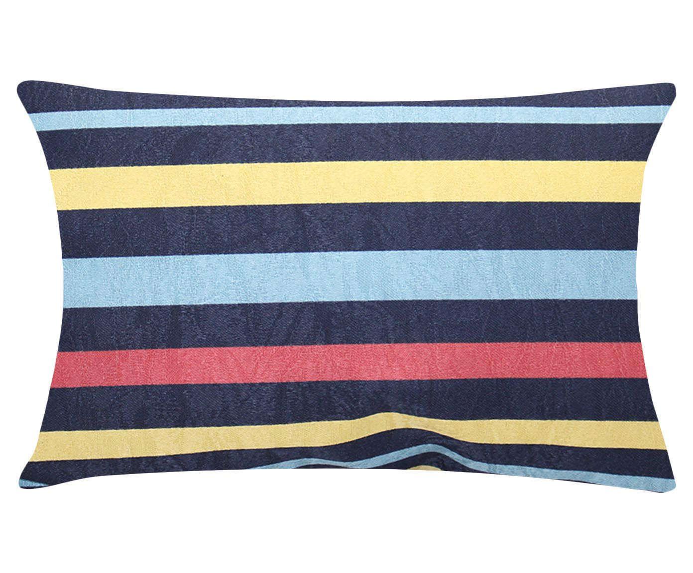 Almofada Suzene Lignes Azul - 30x50cm | Westwing.com.br