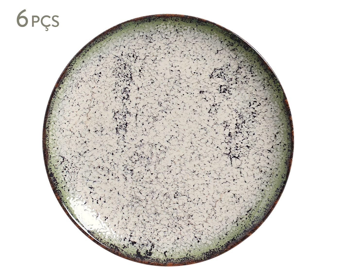 Jogo de Pratos Rasos Coup Verde Cosmos - 26,5X2,8cm | Westwing.com.br