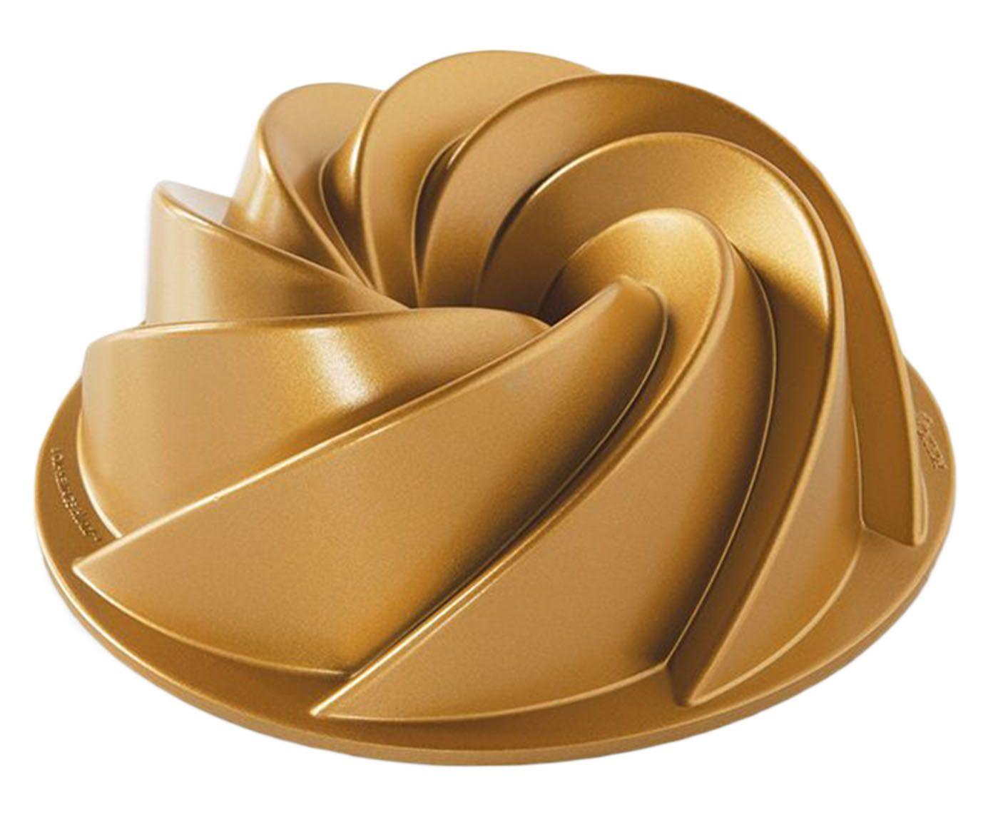 Forma para Bolo Waves Dourada - 22cm | Westwing.com.br