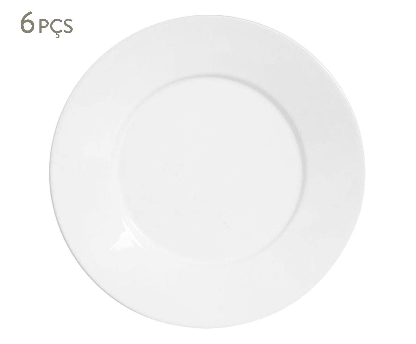 Jogo de Pratos para Sobremesa Mônaco Branco - 20,5cm | Westwing.com.br