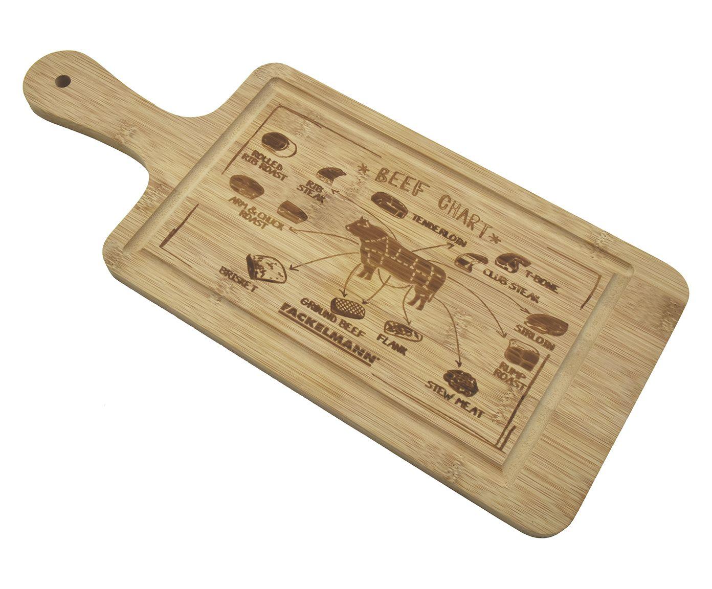 Tábua para Alimentos em Bambu Pub Deluxe - 36X1X16cm | Westwing.com.br