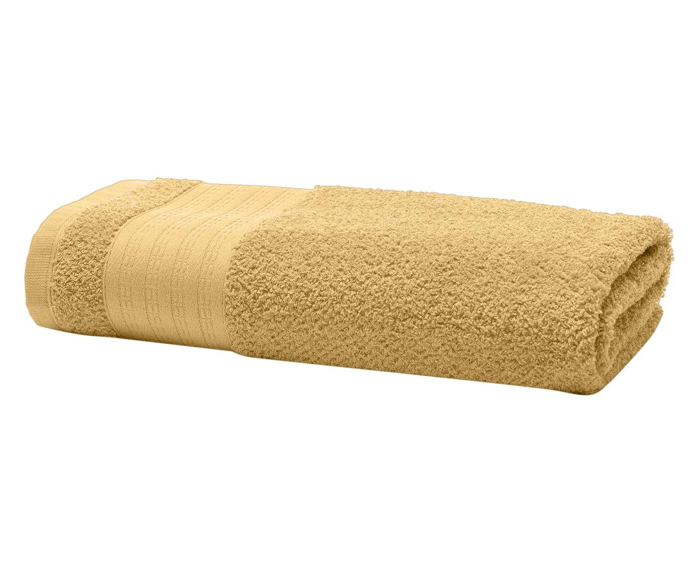 Toalha de Rosto Fluffy Amarela - 48X70cm | Westwing.com.br