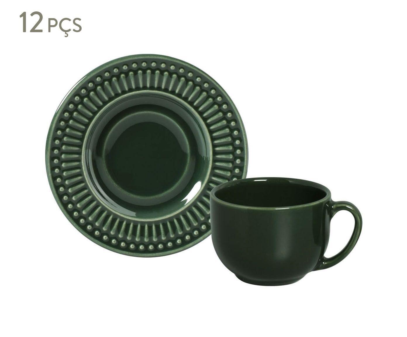 Jogo de Xícaras para Chá com Pires Roma Botânico - 161ml | Westwing.com.br