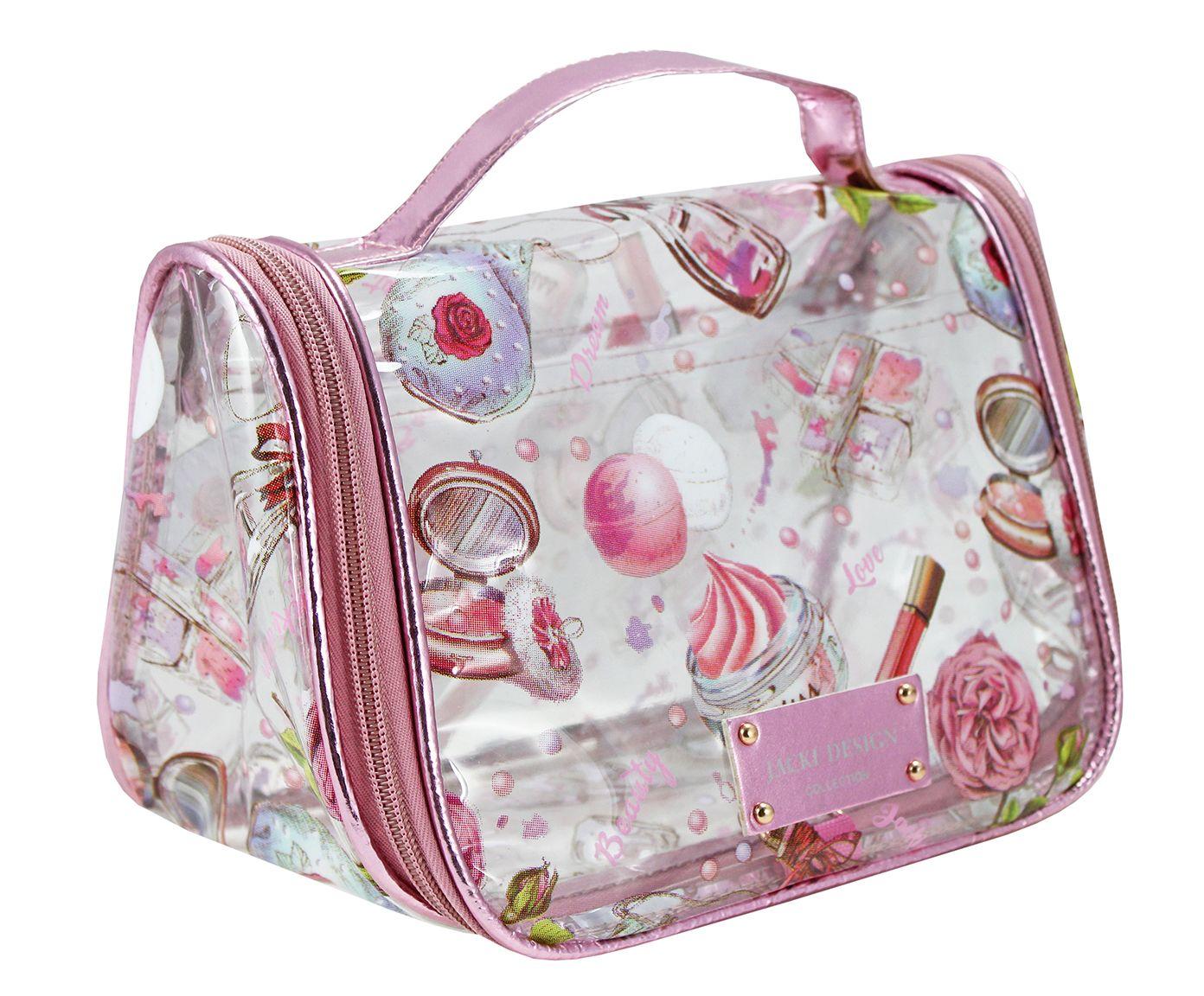 Nécessaire de Viagem Doce Encanto Rosa - 24X15,5X13cm   Westwing.com.br