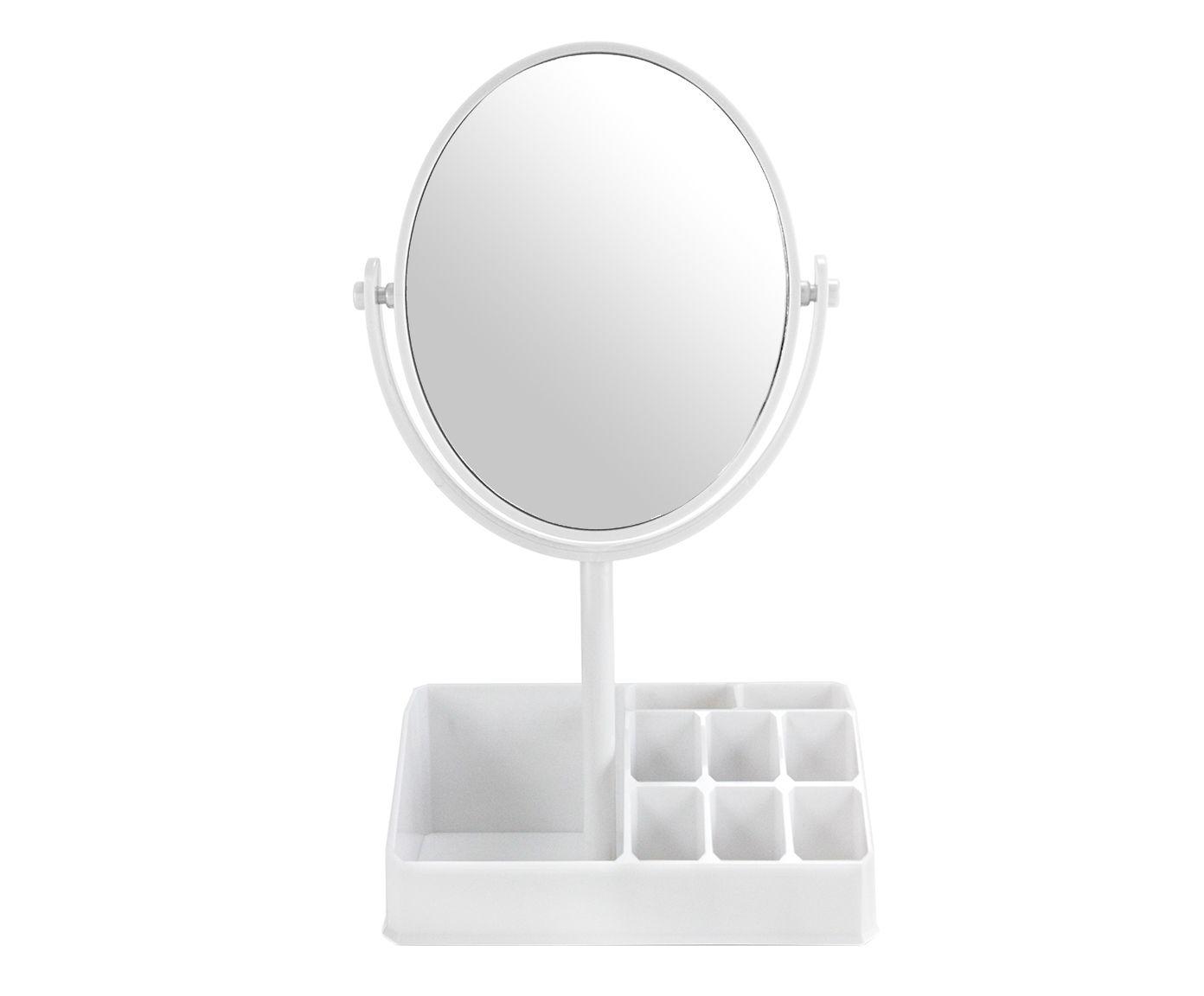 Espelho de Mesa com Divisórias Salim Branco - 16,5X28,8X16,5cm | Westwing.com.br