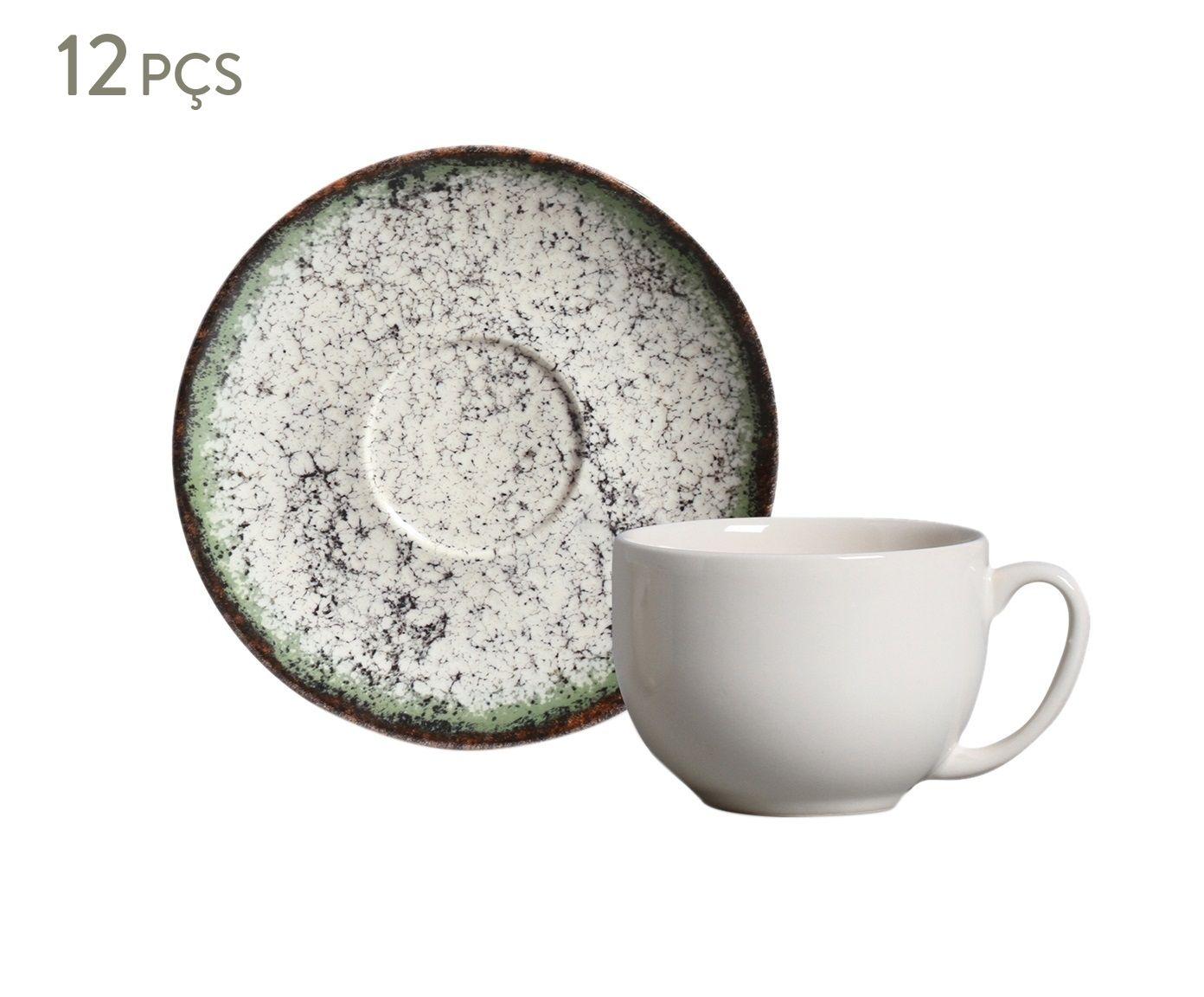 Jogo de Xícaras para Chá com Pires Coup Verde Cosmos - 260ml | Westwing.com.br