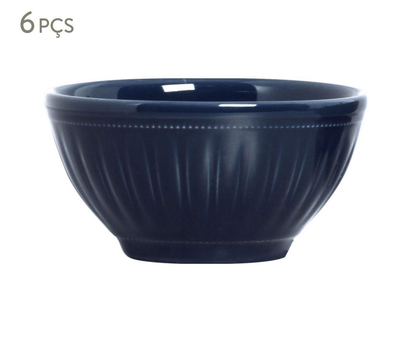 Jogo de Bowls Daisy Deep Blue - 367ml   Westwing.com.br