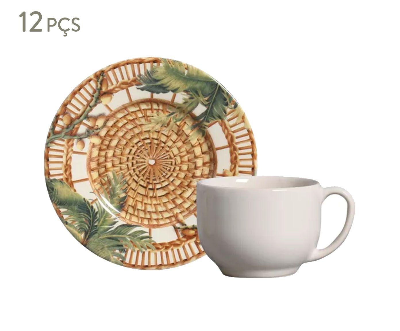 Jogo de Xícaras para Chá com Pires Mônaco Vime - 161ml | Westwing.com.br