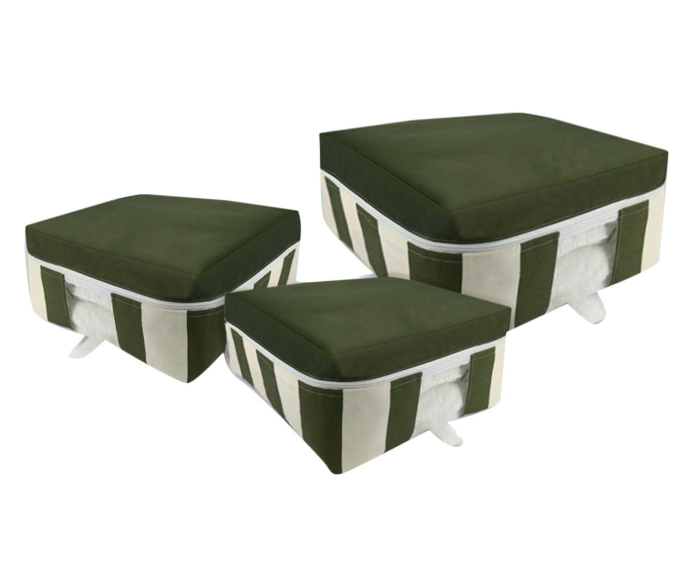 Jogo Organizador Bicolor para Enxoval Verde - 03 Peças | Westwing.com.br