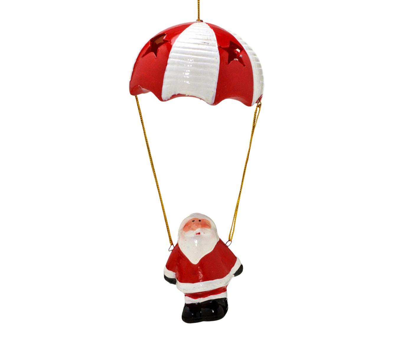 Enfeite Papai Noel Paraquedas - 18X8cm   Westwing.com.br