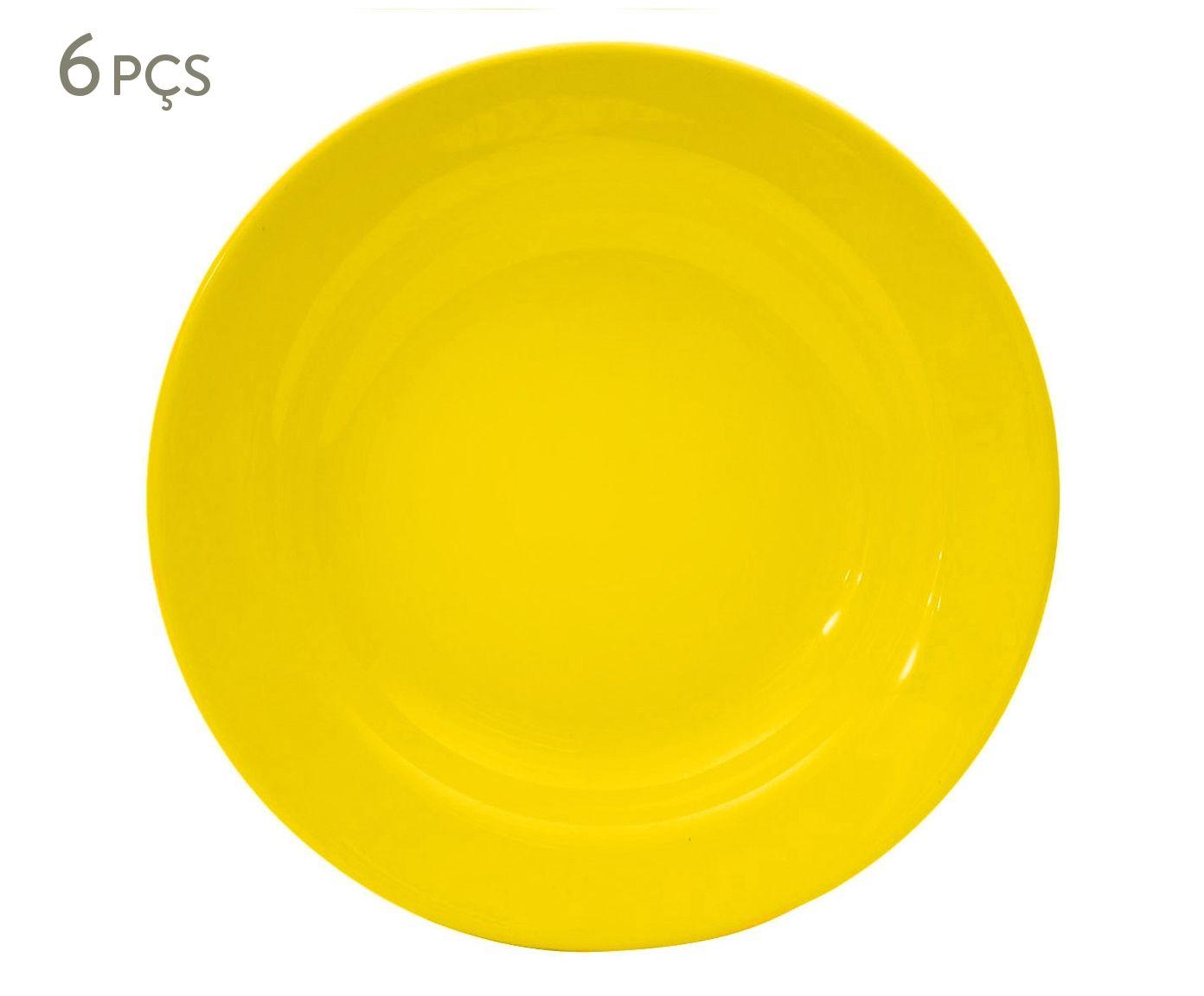 Jogo de Pratos Fundos Standard - Amarelo | Westwing.com.br