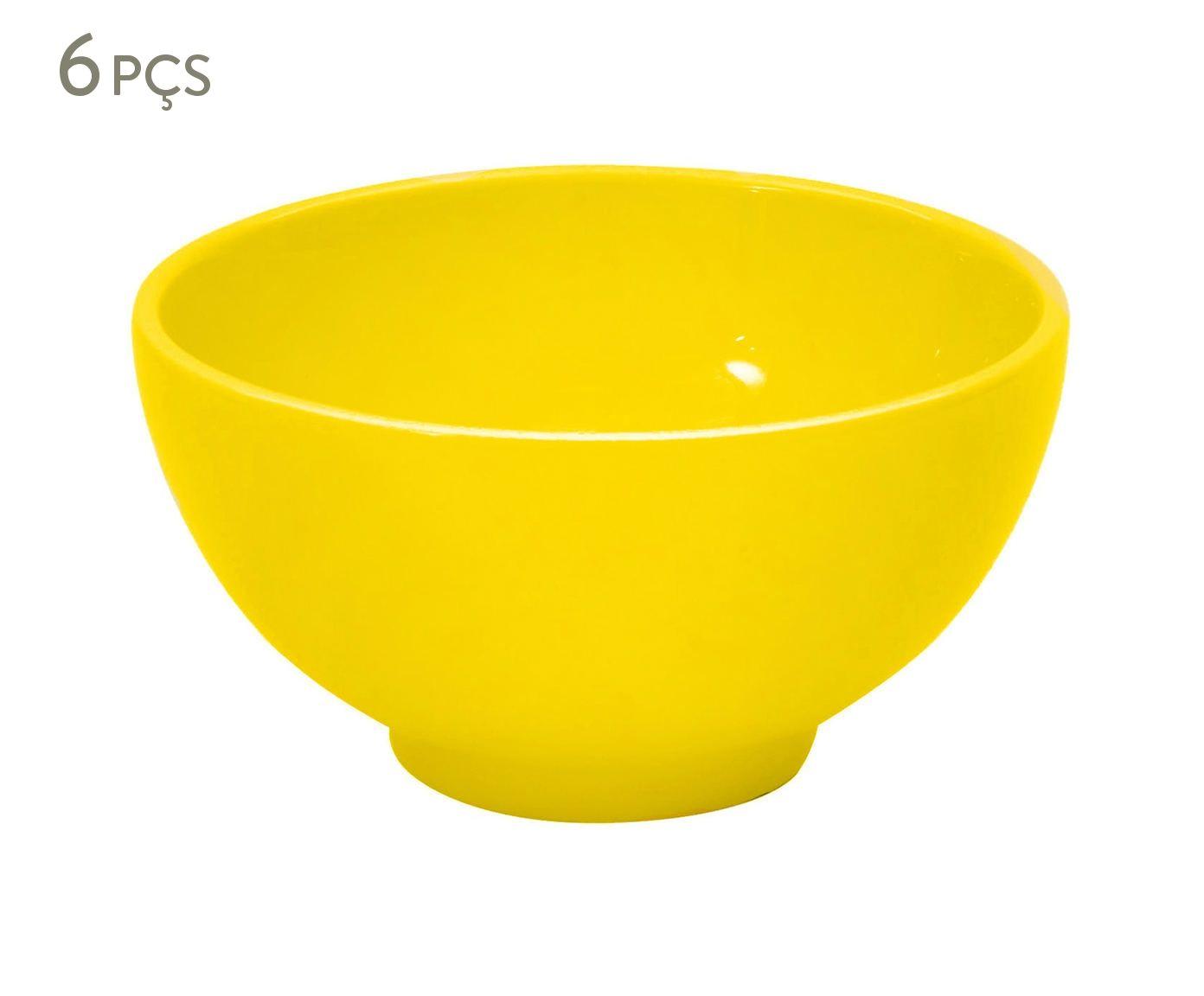 Jogo de Bowls Standard Amarelo Lima - 14cm   Westwing.com.br