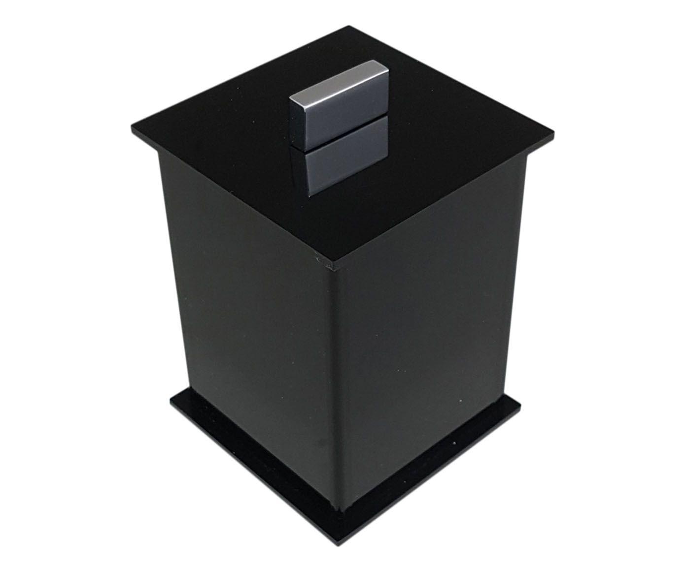 Pote Multiuso Elegance Preto - 7X10X7cm | Westwing.com.br