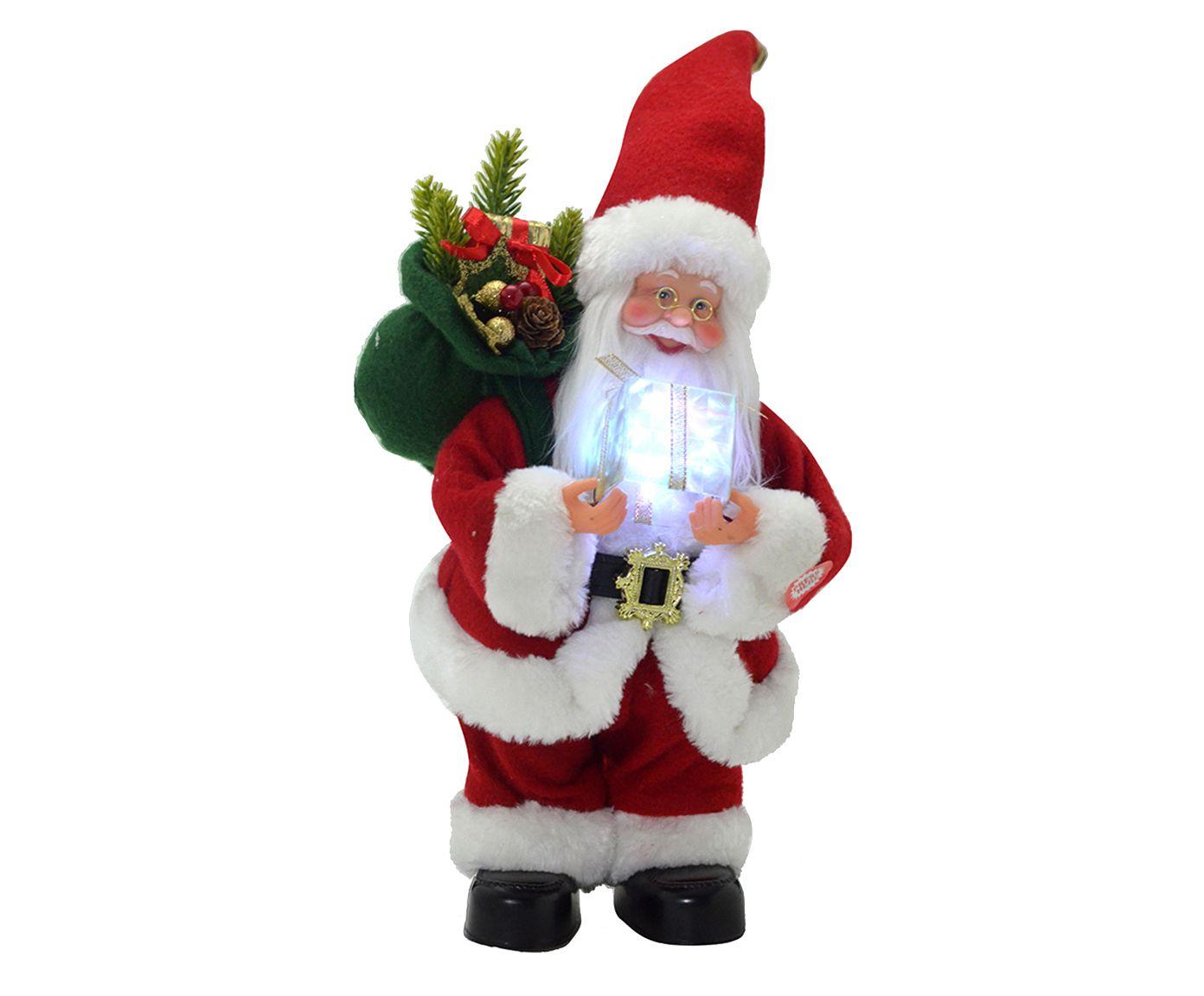 Enfeite Papai Noel Musical Bast - 19X31X15cm   Westwing.com.br