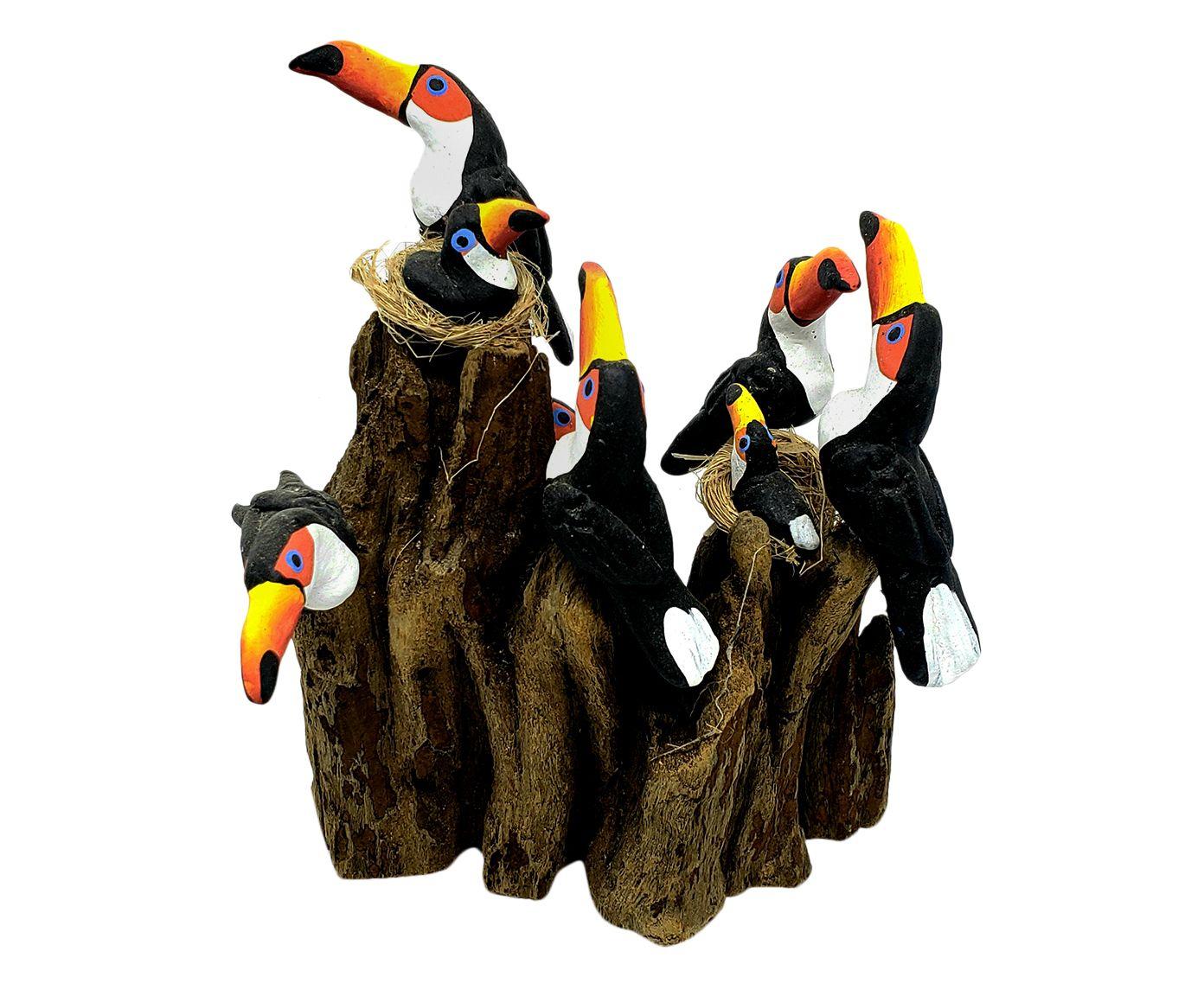 Adorno Pássaros No Tronco Seis Tucanos | Westwing.com.br