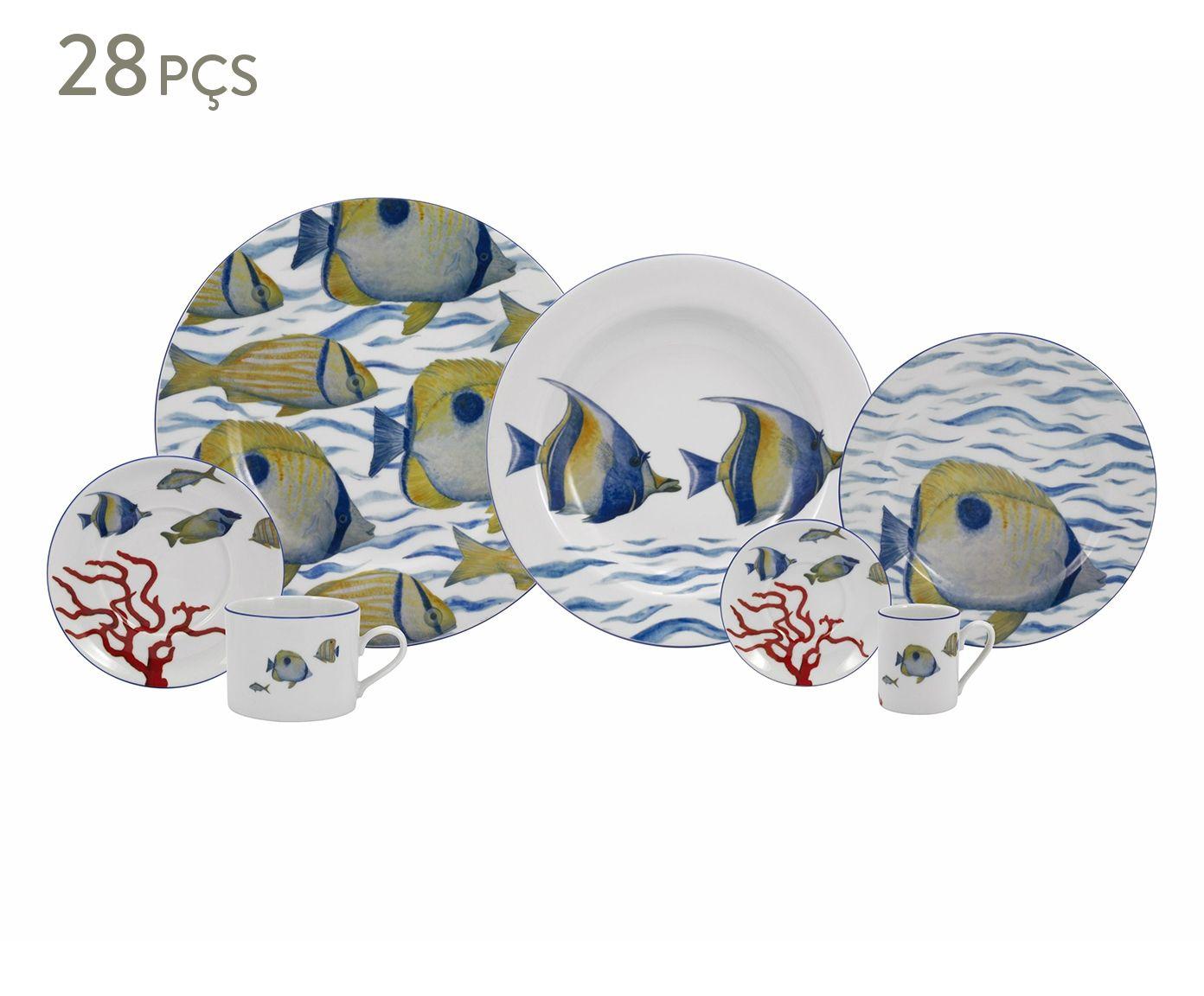 Jogo de Jantar em Porcelana Oceano - 04 Pessoas   Westwing.com.br