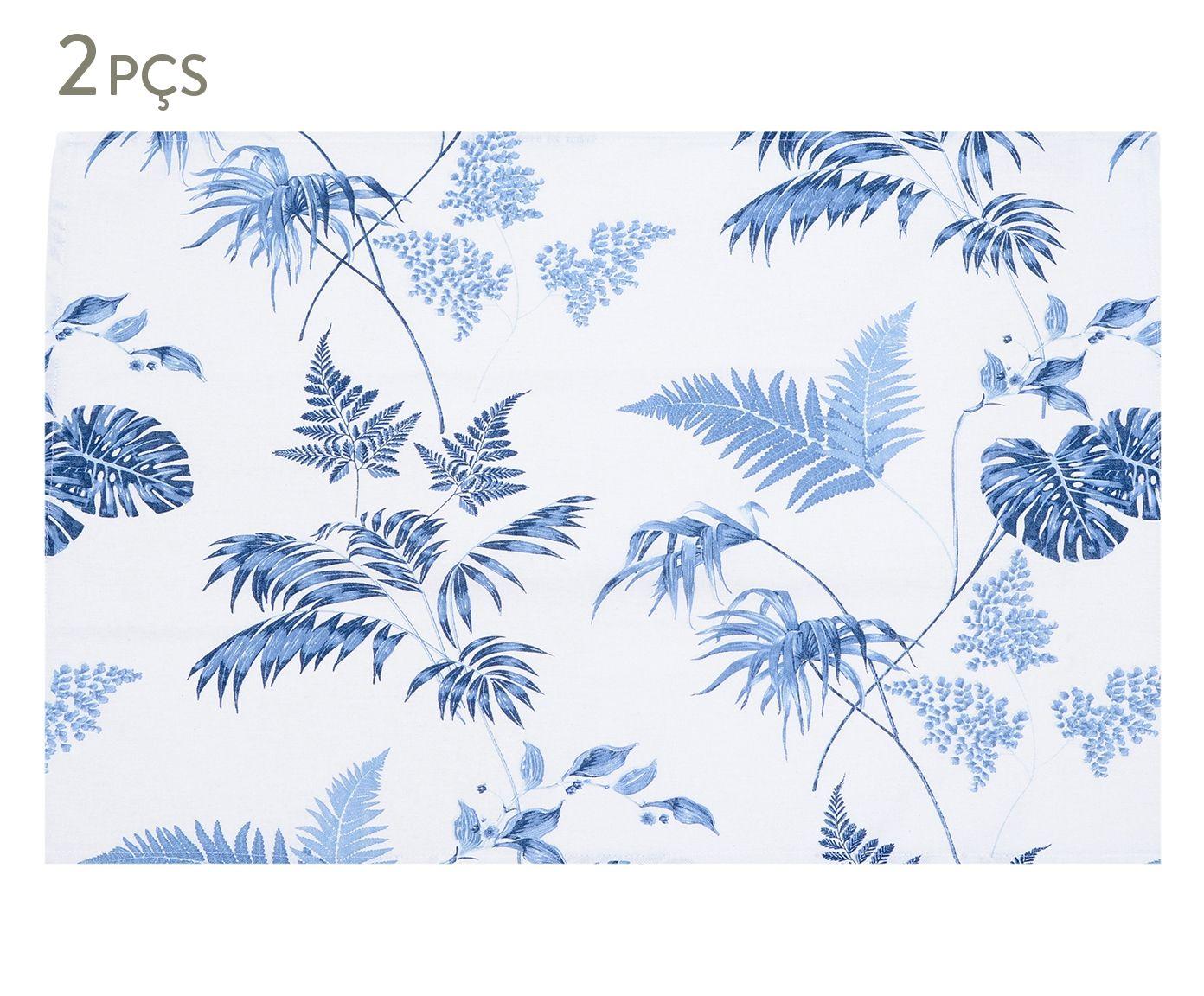 Jogo de Panos de Copa Panamá Tropical Azul - 55X70cm | Westwing.com.br