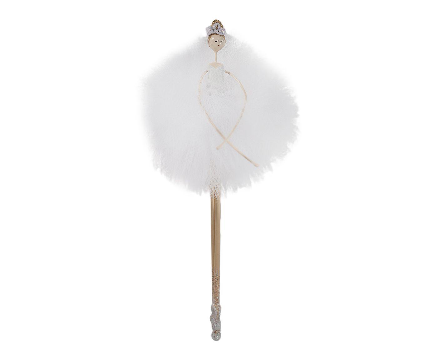 Adorno Bailarina Em Pé Branco - 19cm | Westwing.com.br