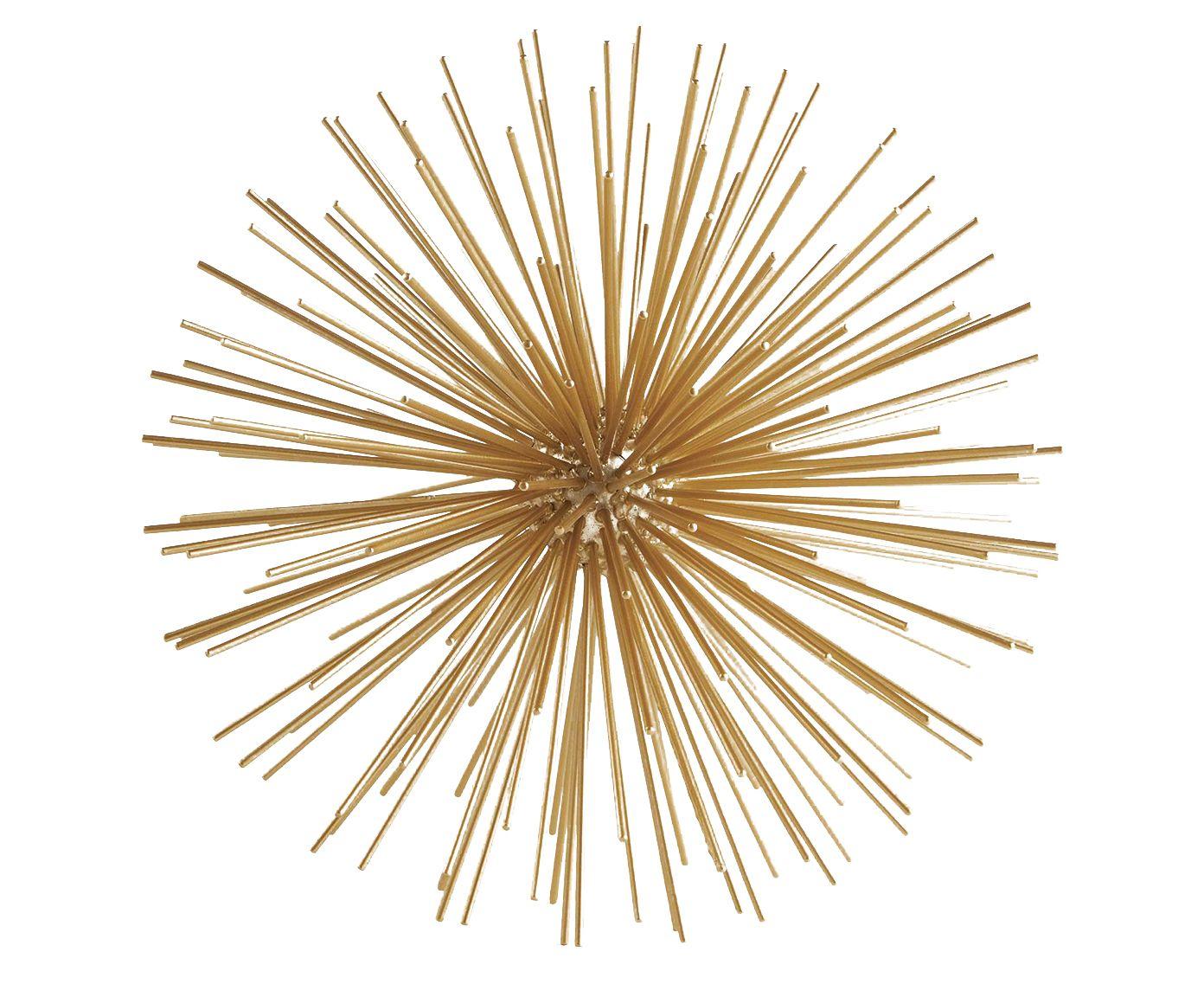 Adorno Ouriço Ian Dourado - 20X20cm | Westwing.com.br