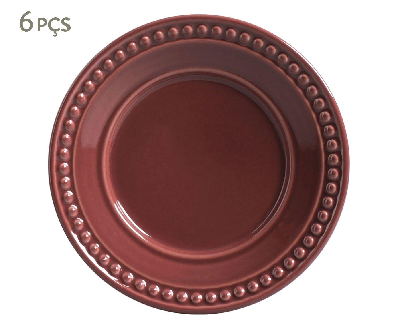 Jogo de Pratos para Sobremesa Atenas Cassis - 20,5cm | Westwing.com.br