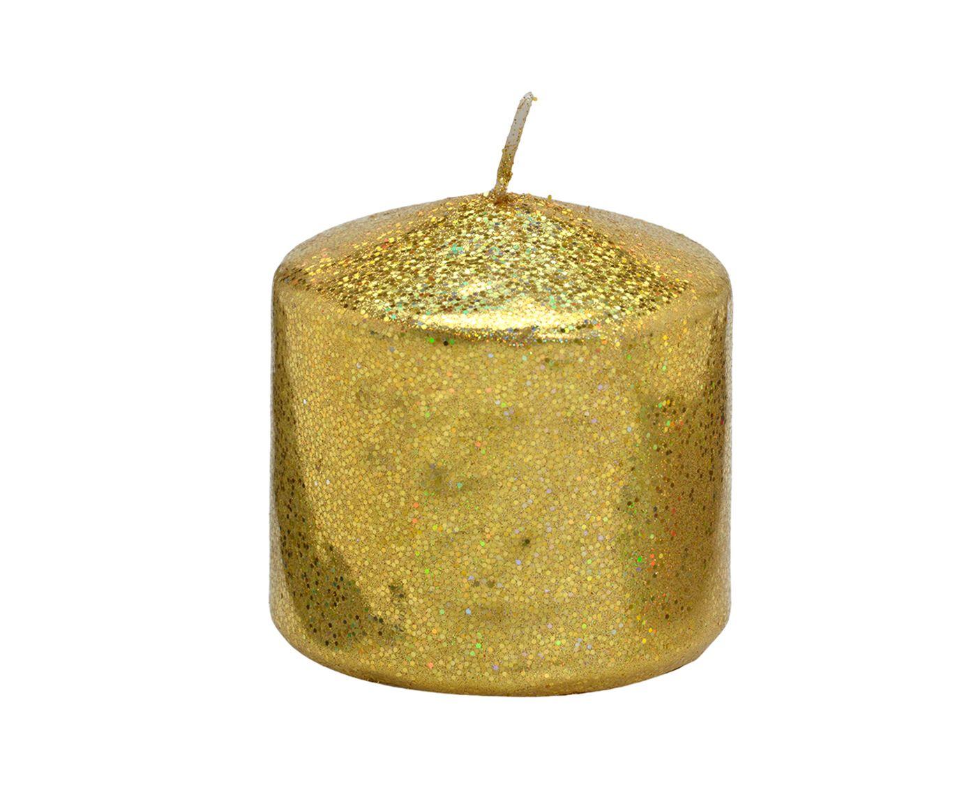 Vela Decorativa Pilar Berker Dourada - 7,5X7cm   Westwing.com.br