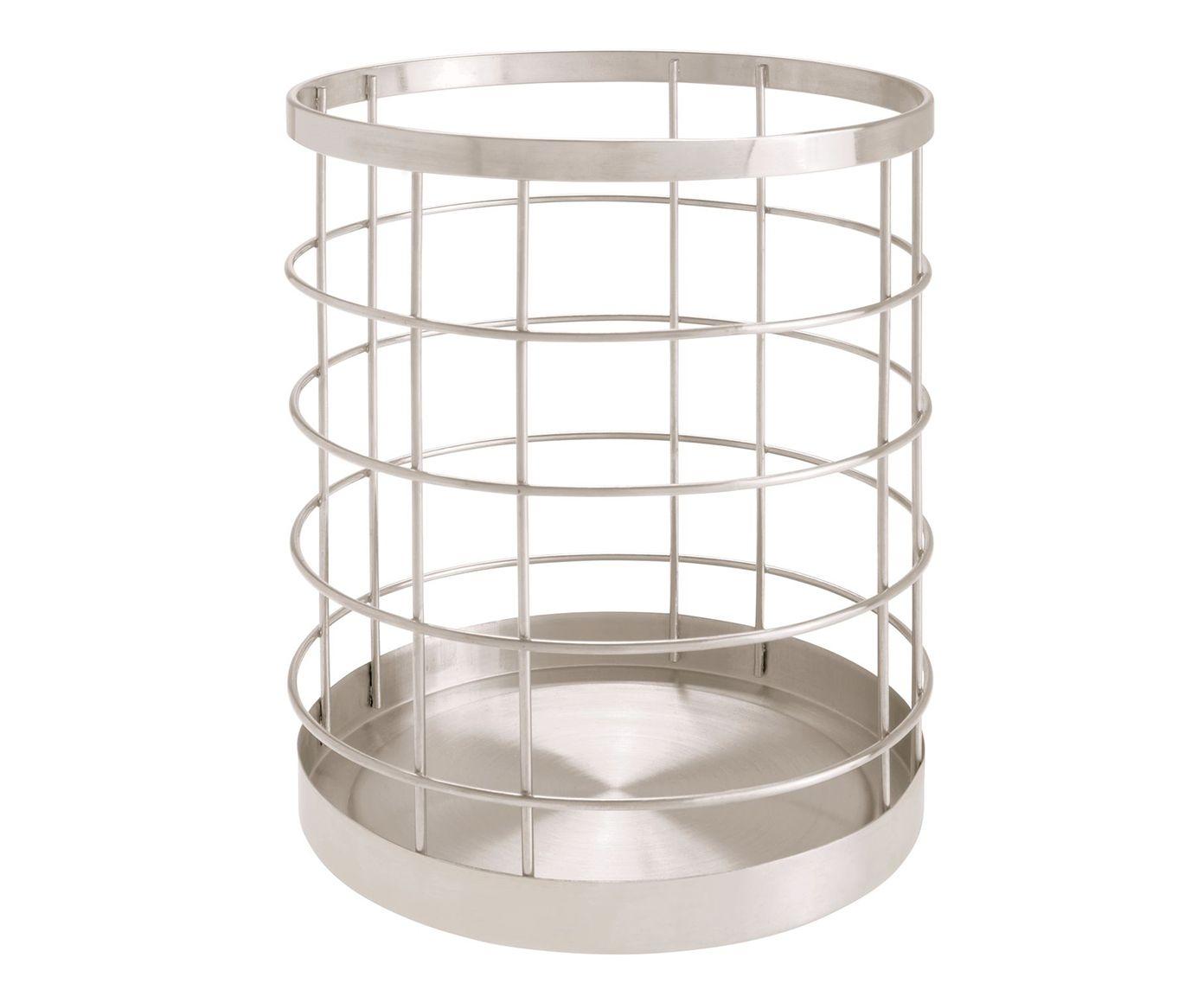 Porta-Talheres de Cozinha em Inox Austin Prateado - 15,3X17,8cm | Westwing.com.br