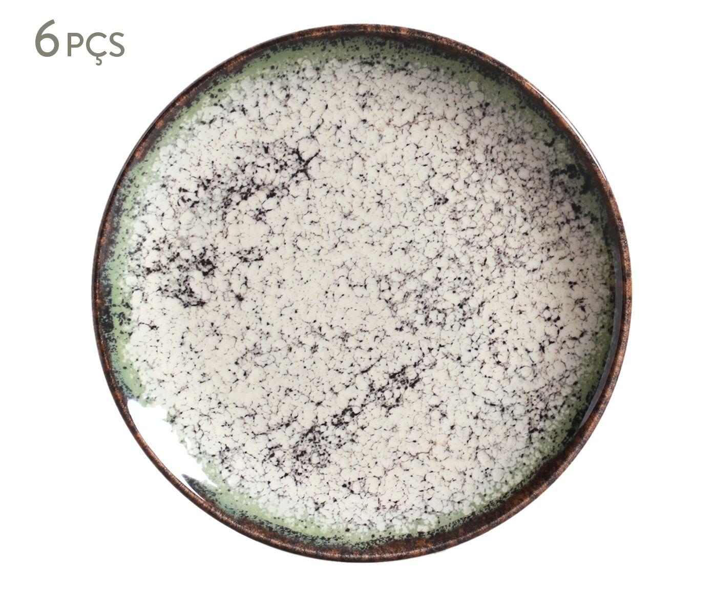 Jogo de Pratos para Sobremesa Coup Verde Cosmos - 20X2,5cm | Westwing.com.br