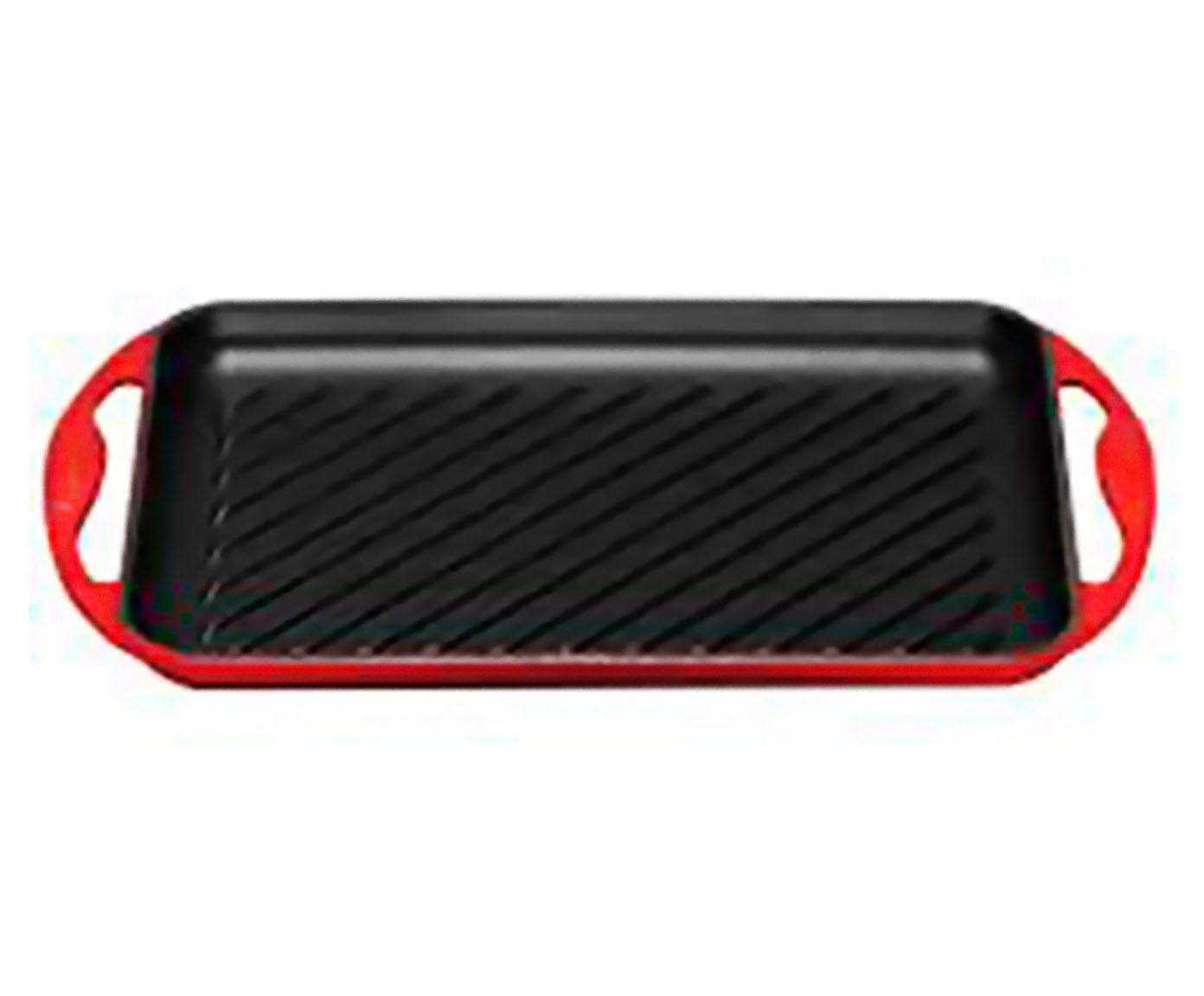 Grelha com Alça Vermelha - 32X22cm | Westwing.com.br