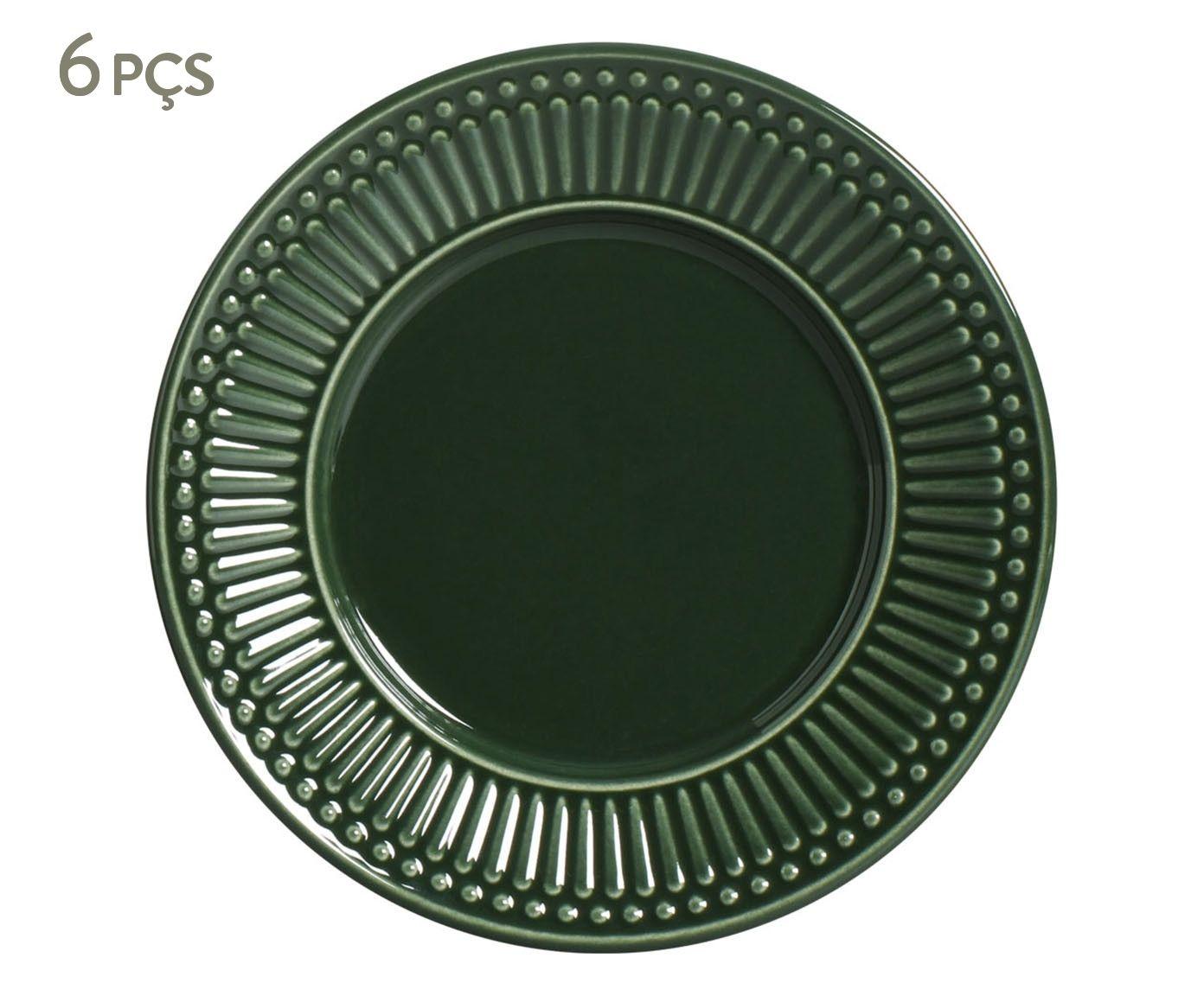 Jogo de Pratos para Sobremesa Roma Botânico - 20,5cm | Westwing.com.br