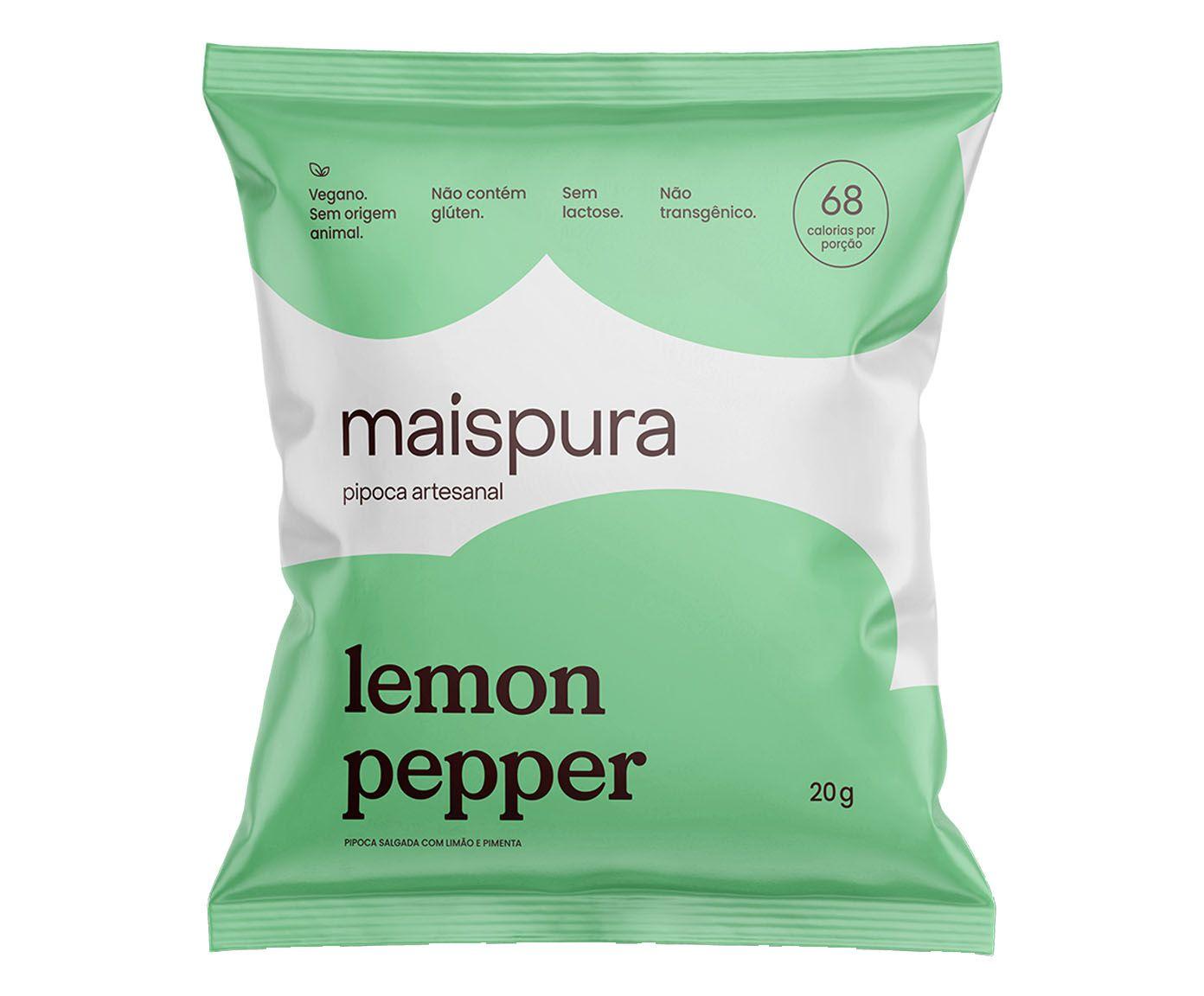 Pipoca Artesanal Mais Pura Lemon Pepper - 25G | Westwing.com.br