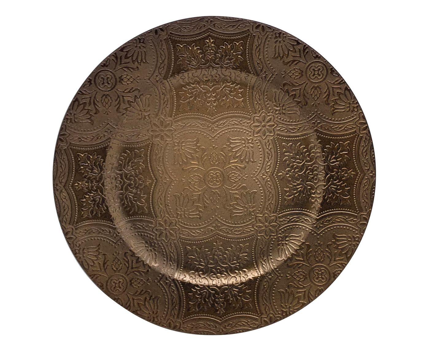 Sousplat Índia Marrom - 33cm   Westwing.com.br