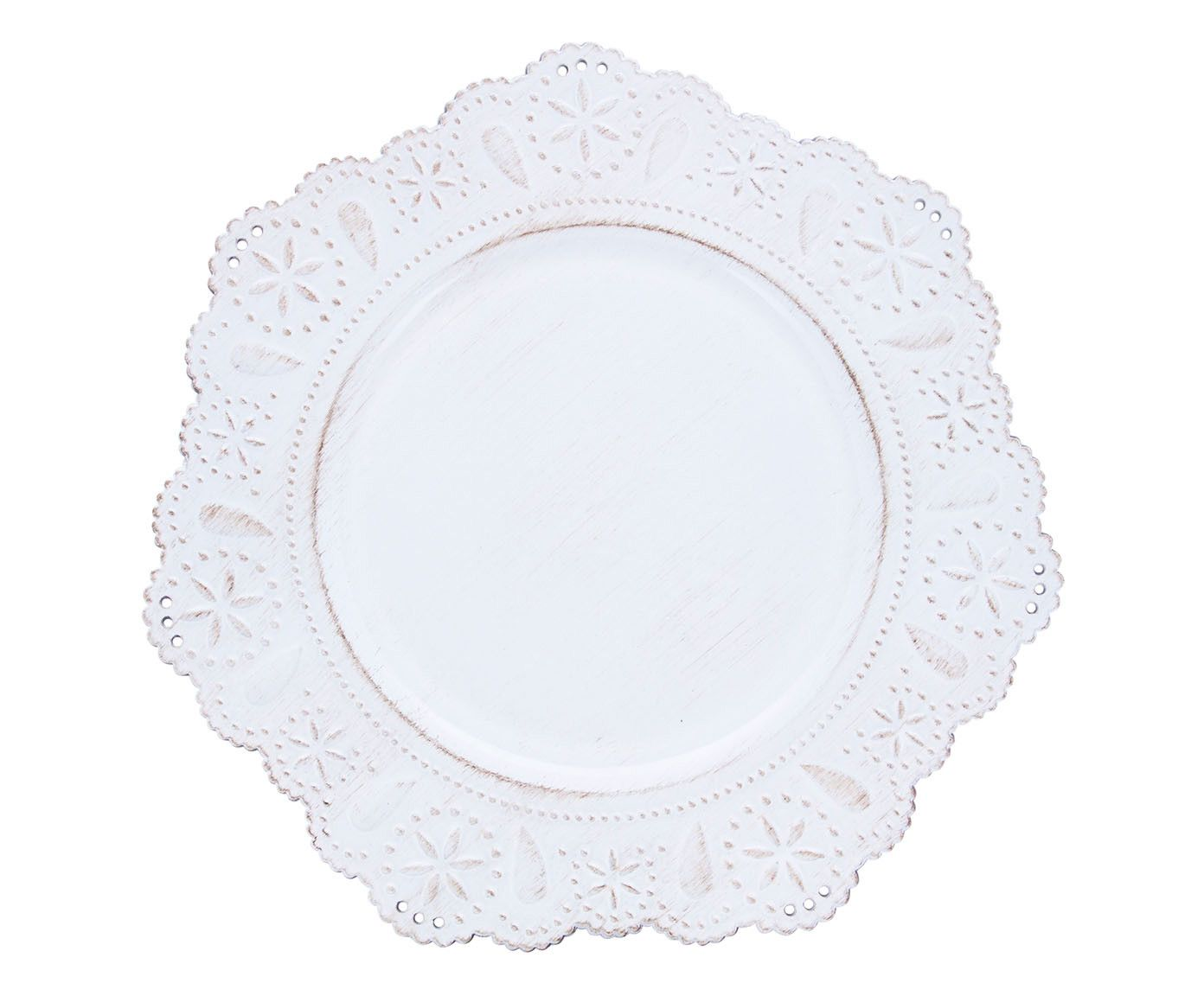 Sousplat Renda Off-White - 33cm | Westwing.com.br