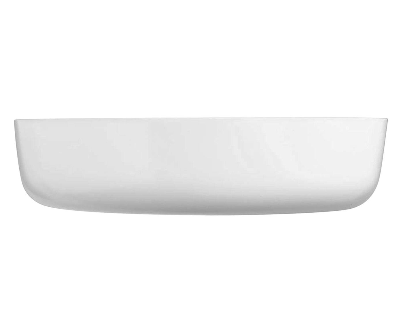 Assadeira Diwali Branca - 26X6,8X26cm | Westwing.com.br