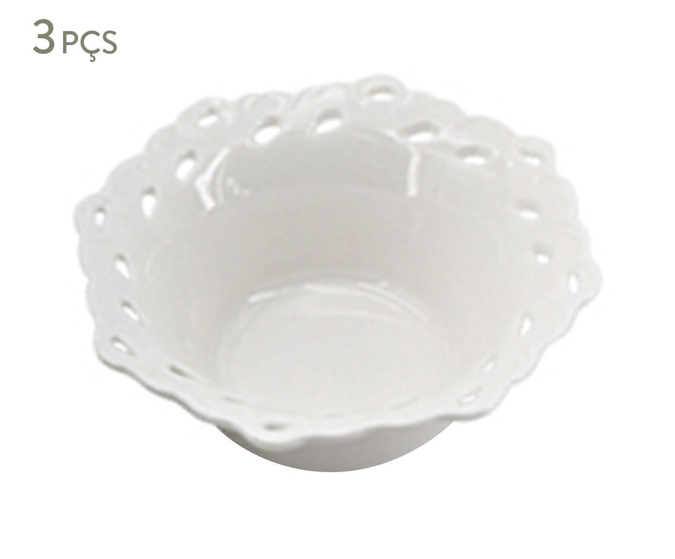 Jogo de Bowls em Porcelana Erlian - 9,7X4X9,7cm | Westwing.com.br
