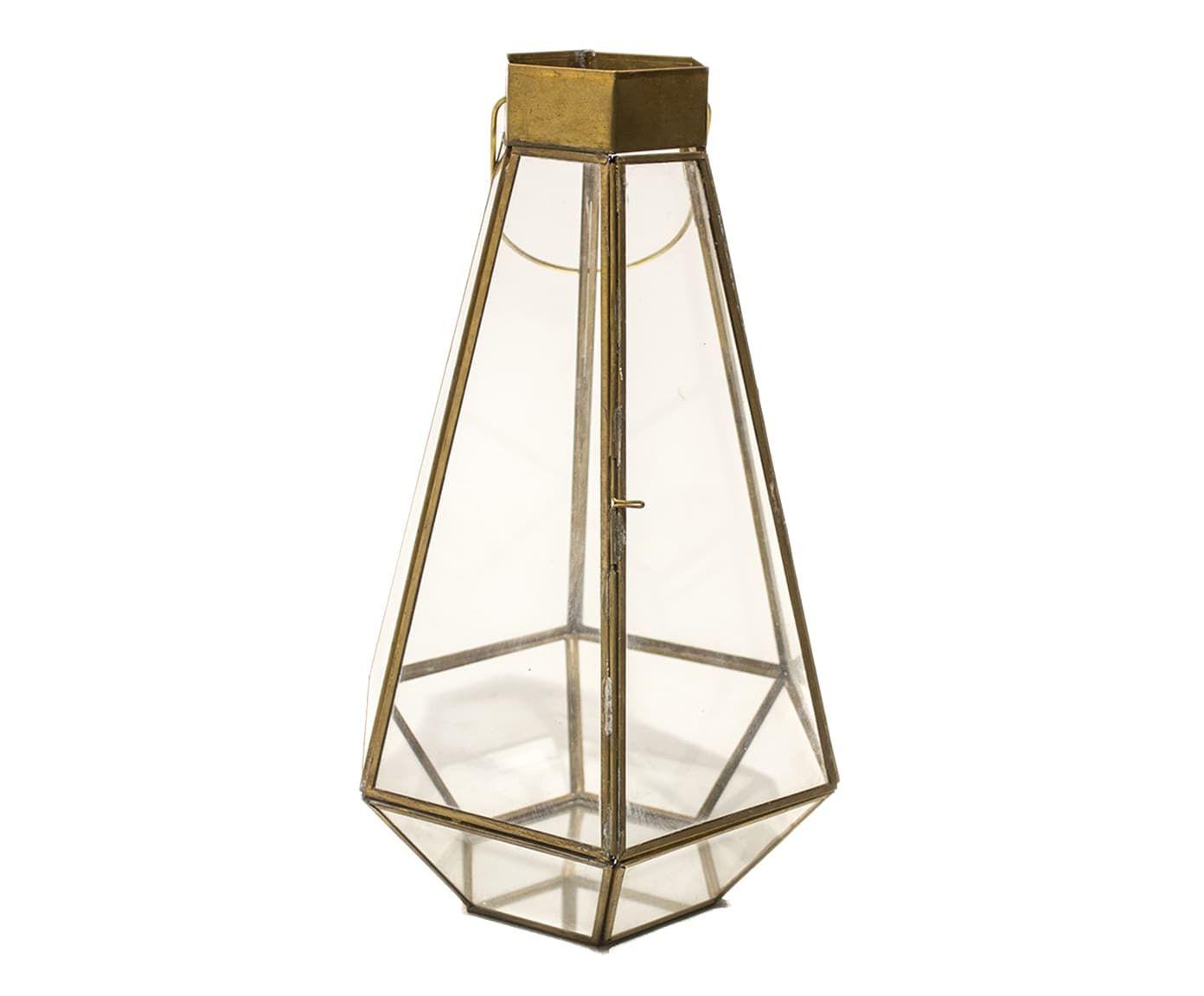 Lanterna Capotira Dourado - 21,5X31cm | Westwing.com.br
