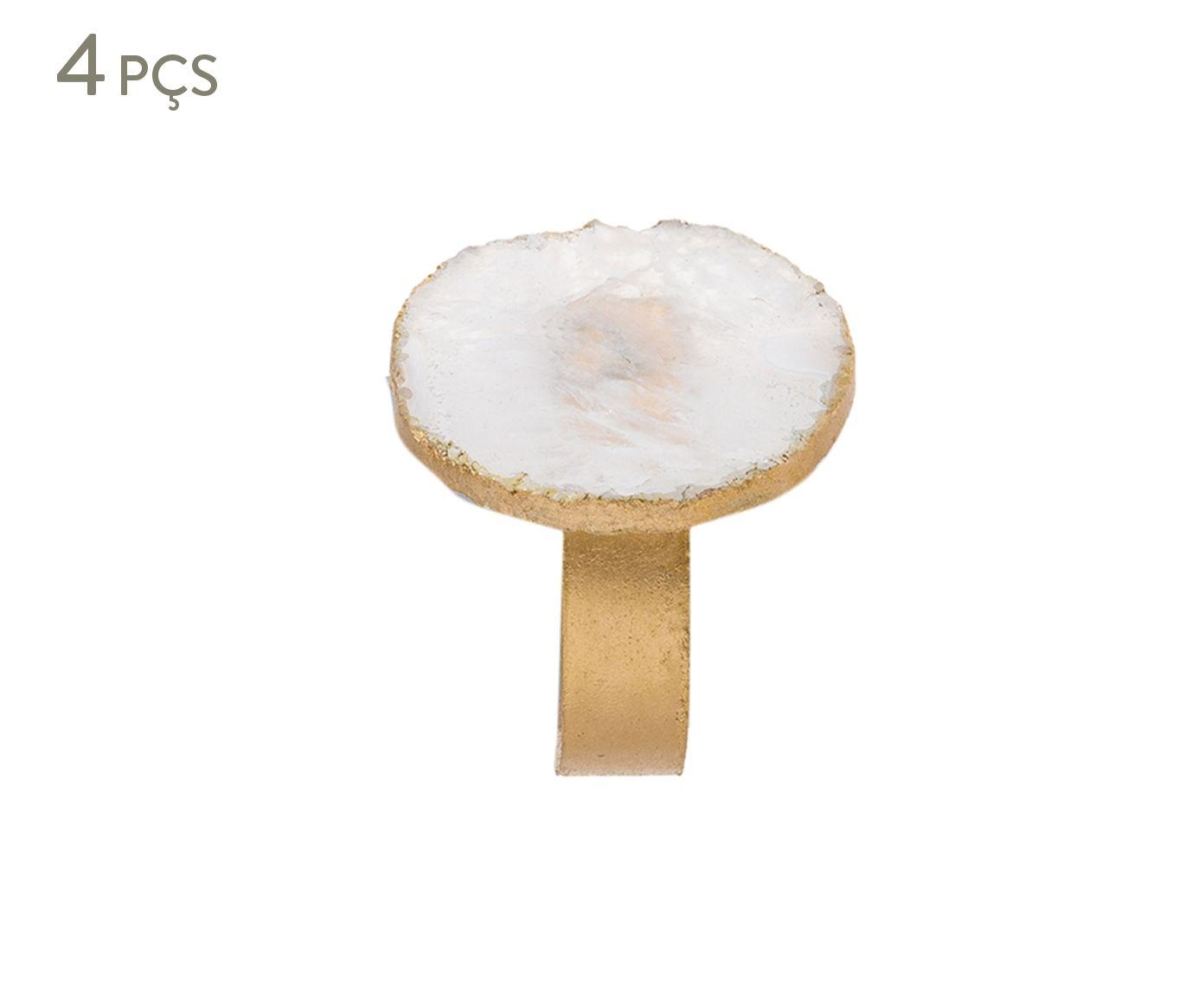 Jogo de Anéis para Guardanapo Complement Quartzo Four - 5cm | Westwing.com.br