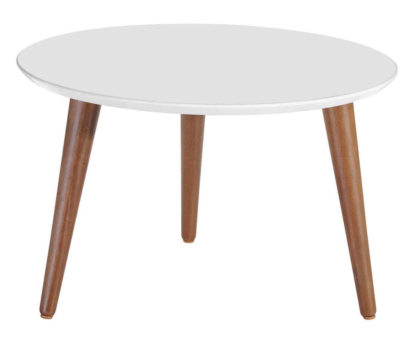 Mesa de Centro Classic Branca Gloss - 60cm | Westwing.com.br