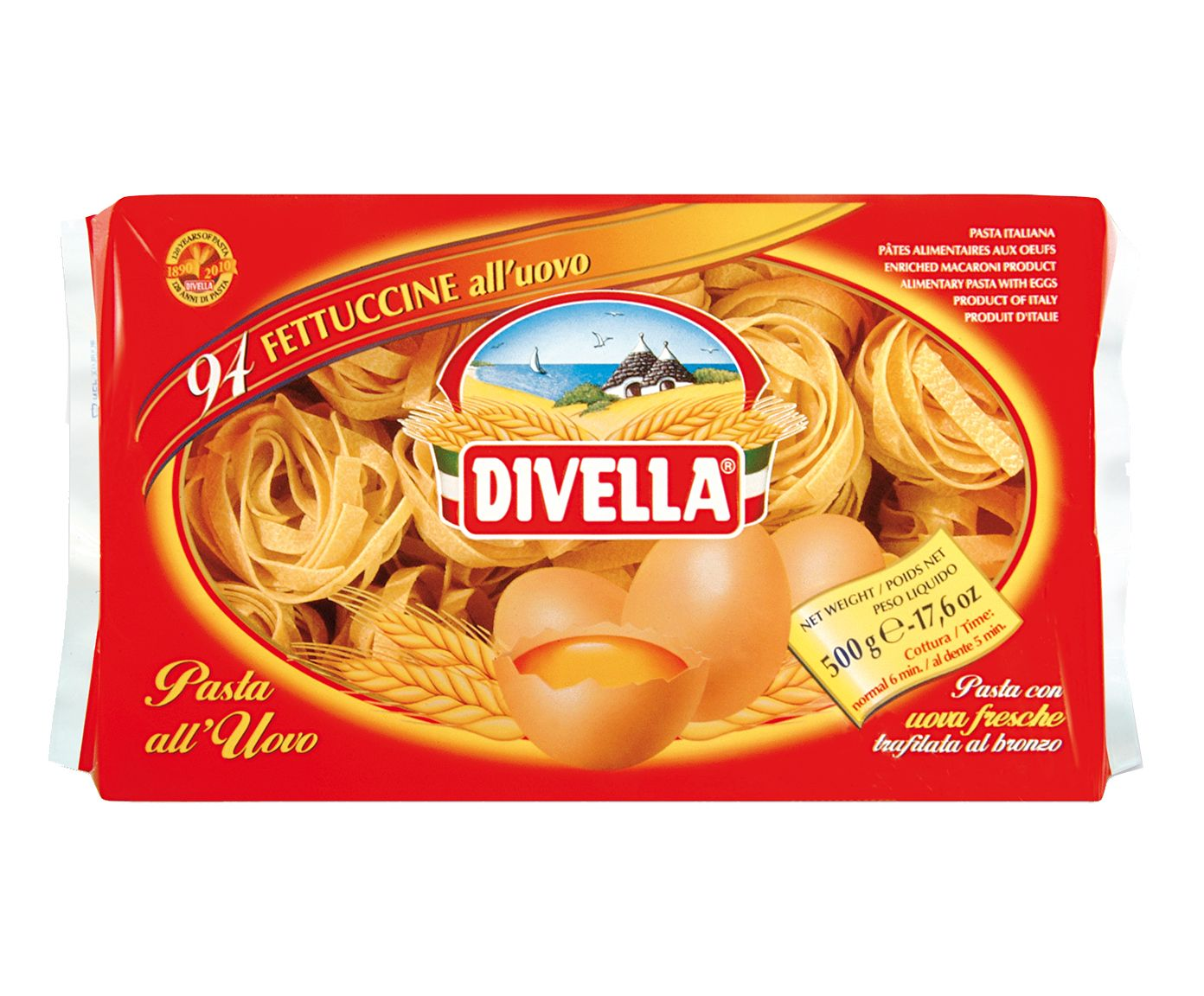 Massa Divella Fettuccine All'Uovo N°094 - 500G | Westwing.com.br