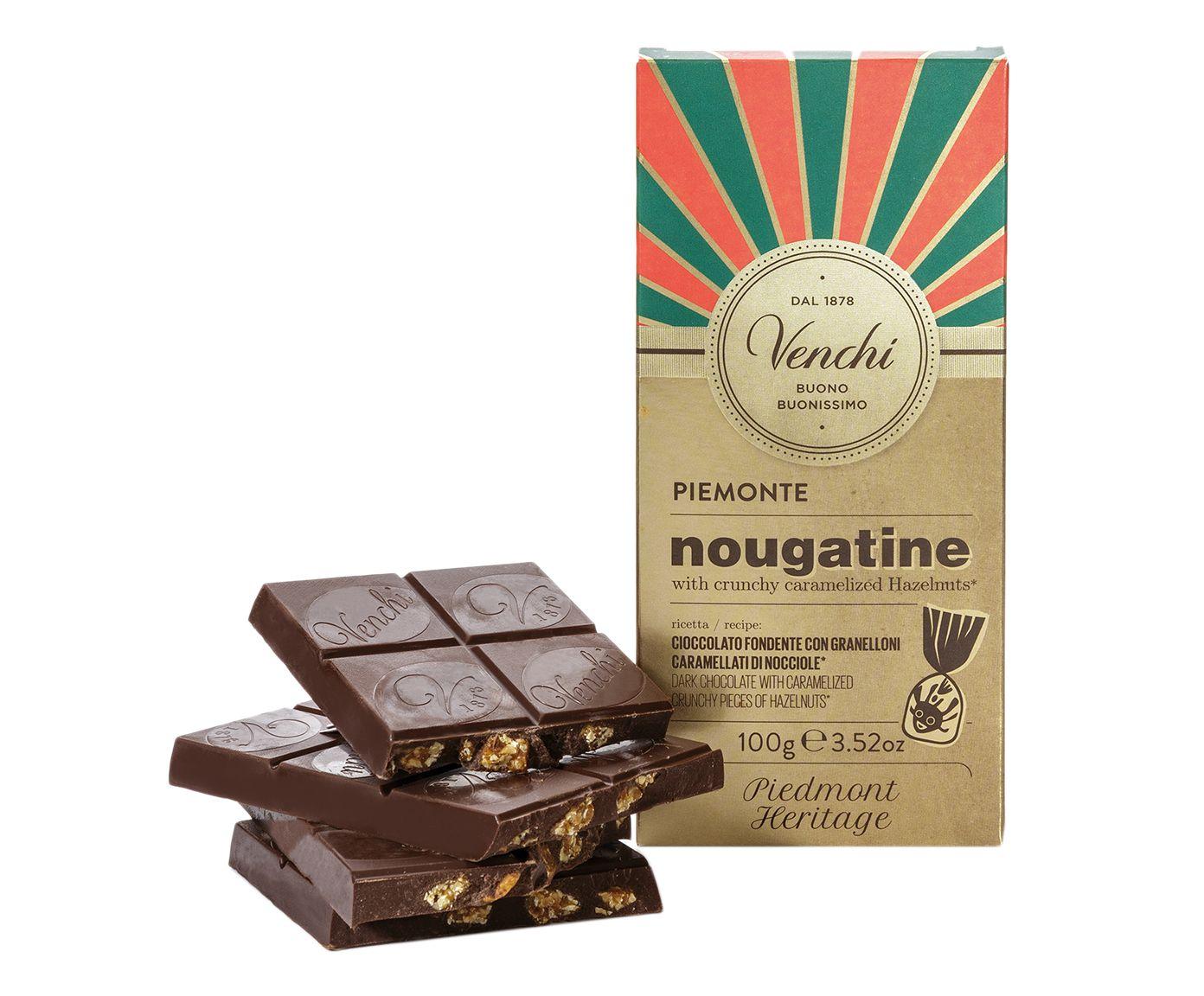 Barra de Chocolate Amargo Nougatine com Avelãs Crocantes e Caramelizadas - 100G | Westwing.com.br