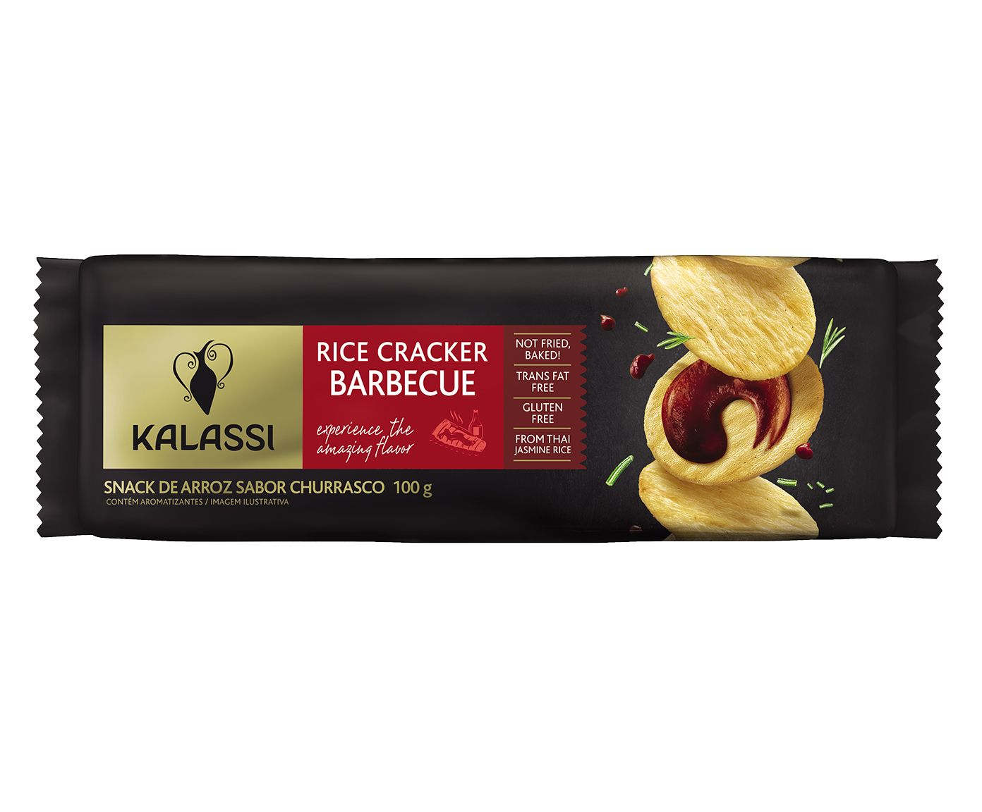 Snack Tailandês Kalassi Rice Crackers Barbecue - 100G | Westwing.com.br
