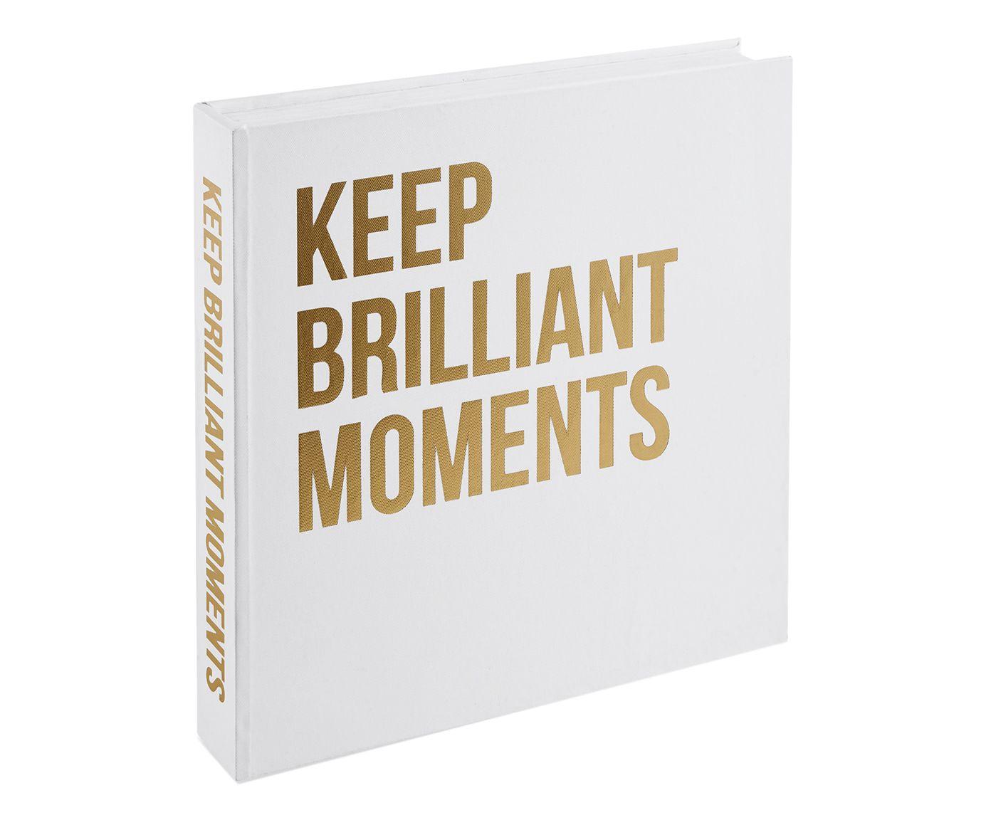 Book Box Keep Brilliant Moments - 5X30cm | Westwing.com.br