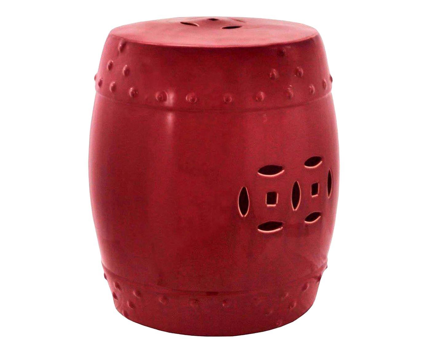 Garden Seat em Porcelana Duas Moedas Vinho - 52X47cm | Westwing.com.br