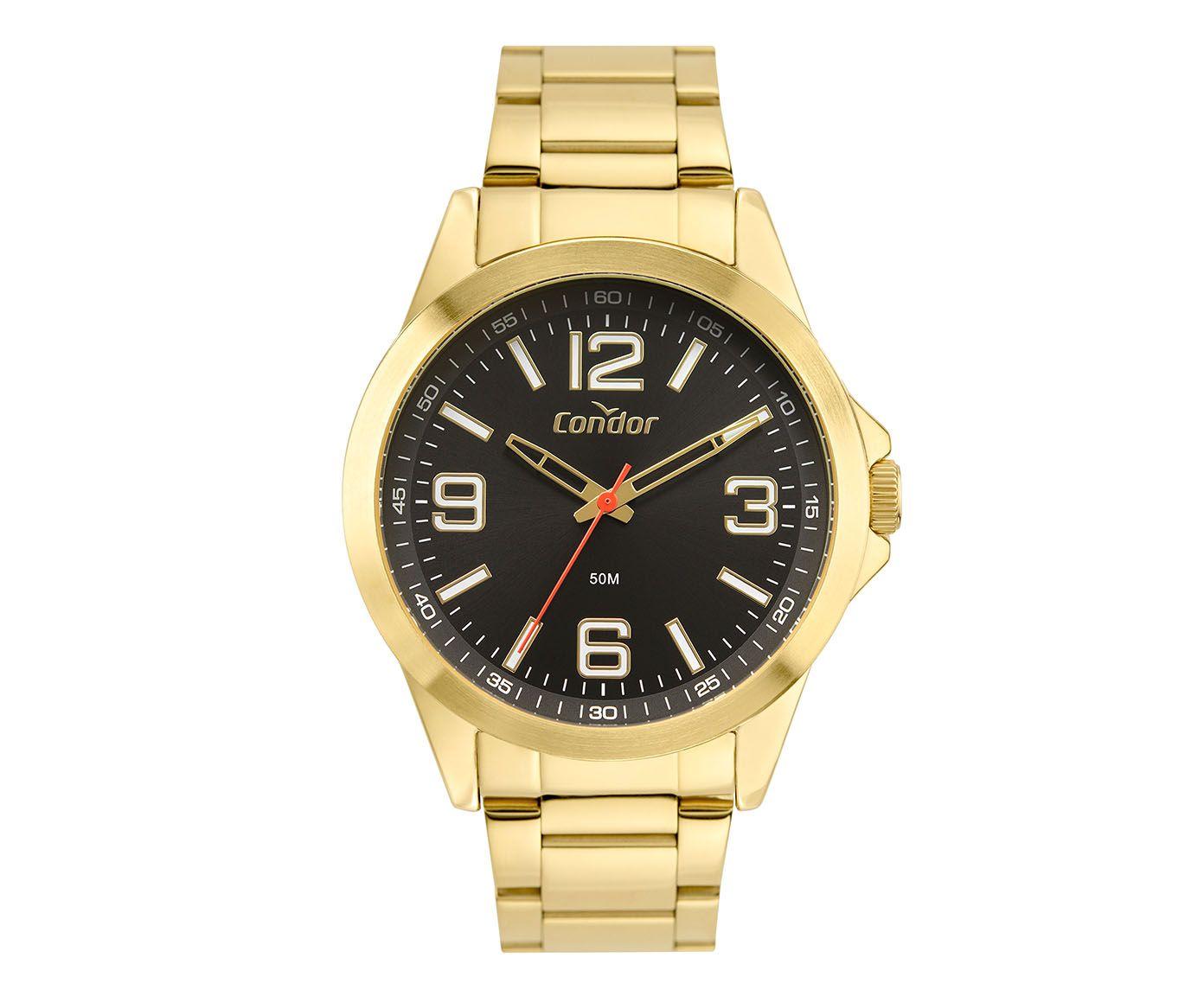 Relógio Analógico Condor Metal Preto | Westwing.com.br