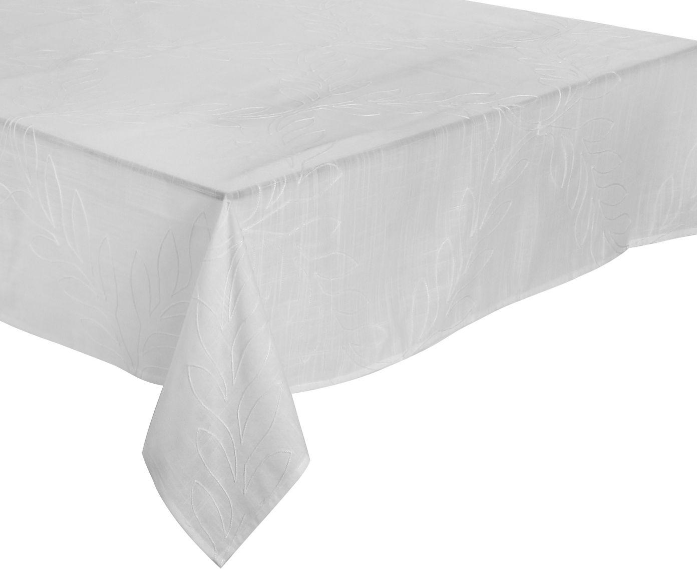 Toalha de Mesa em Linho Auguri Romana Branca - 220X220cm   Westwing.com.br