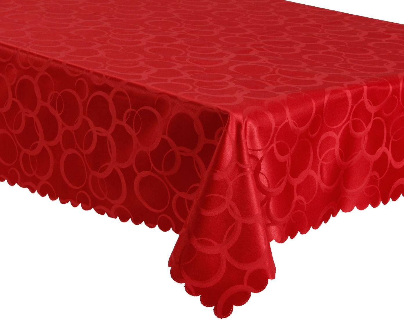 Toalha de Mesa Auguri Esfera Vermelha - 160X220cm | Westwing.com.br