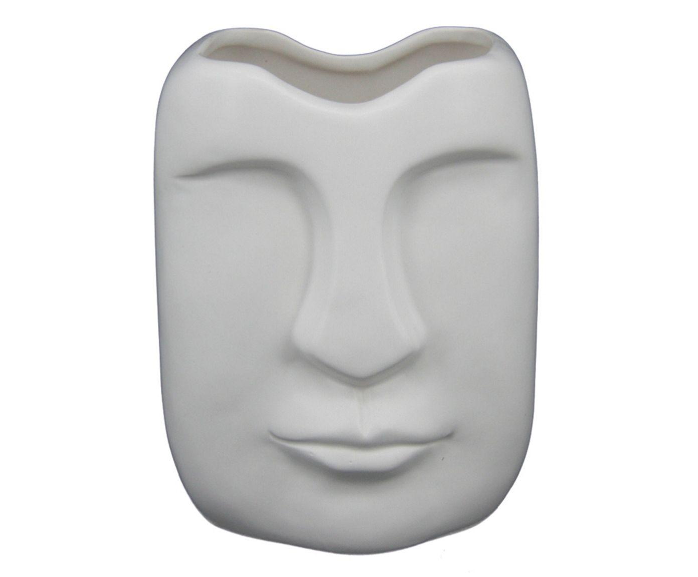 Vaso Rostino Branco - 11X14X9,5cm | Westwing.com.br