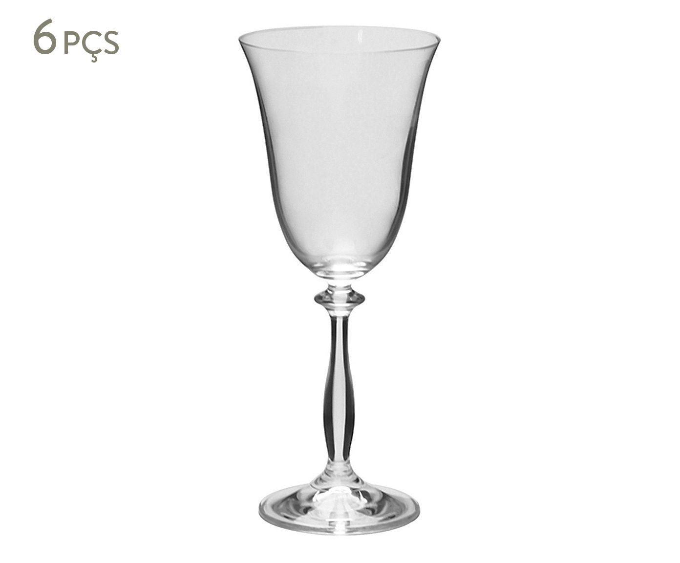 Jogo de Taças para Vinho Tinto em Cristal Ecológico Angela - 250ml   Westwing.com.br