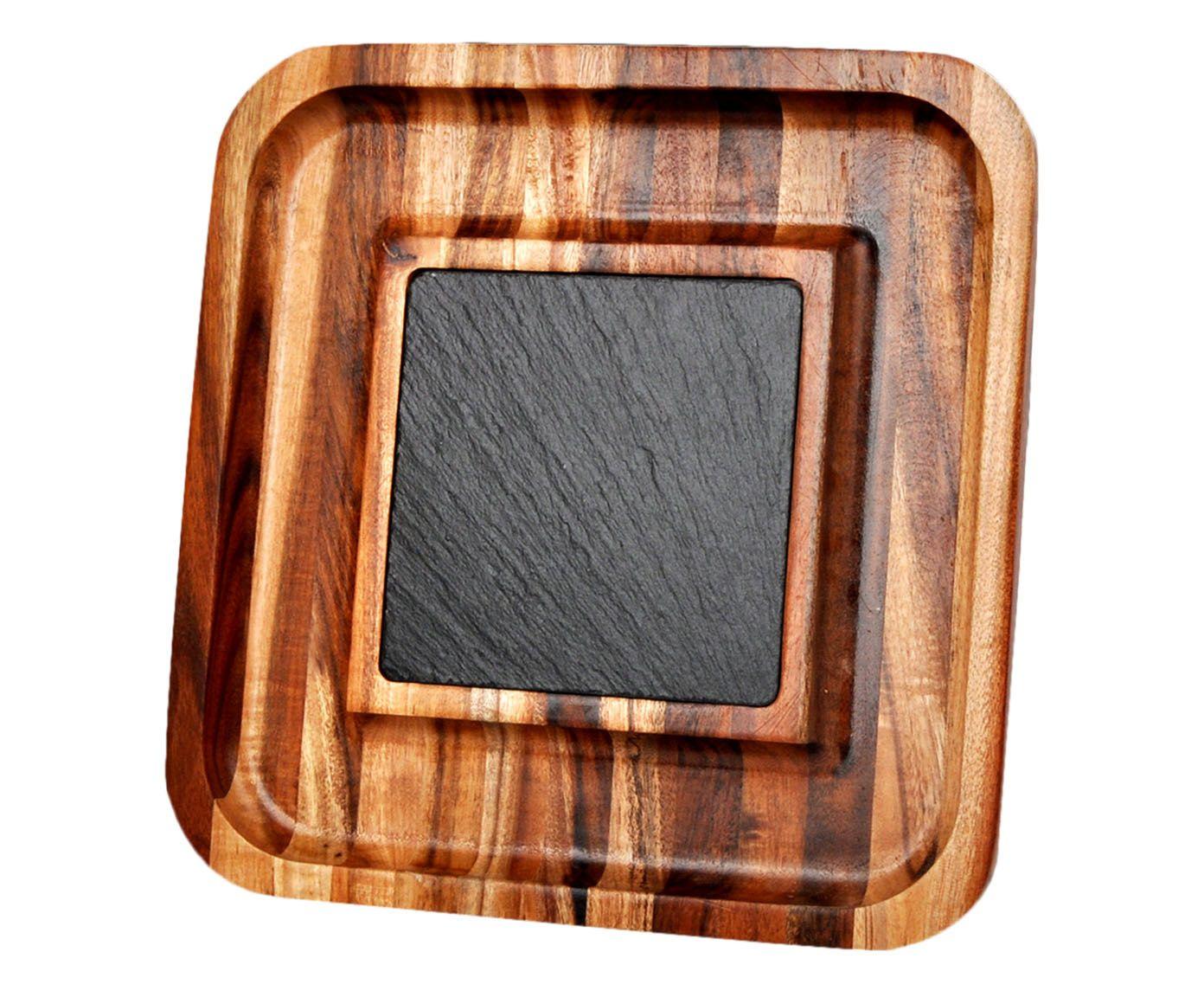 Petisqueira com Pedra Lemuel - 26,5X4X26,5cm | Westwing.com.br