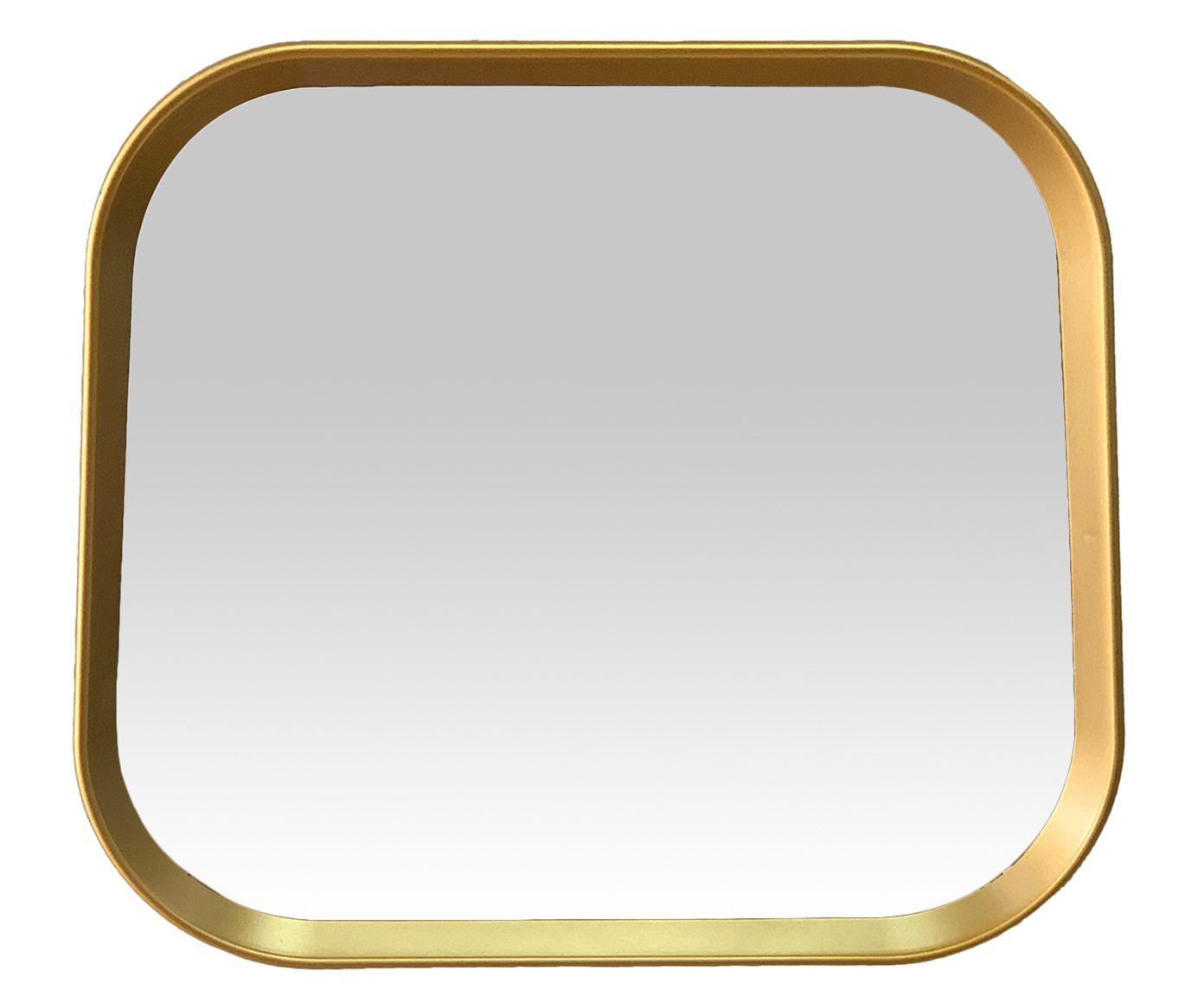 Espelho de Parede Bordi Dourado - 38X33X3cm | Westwing.com.br