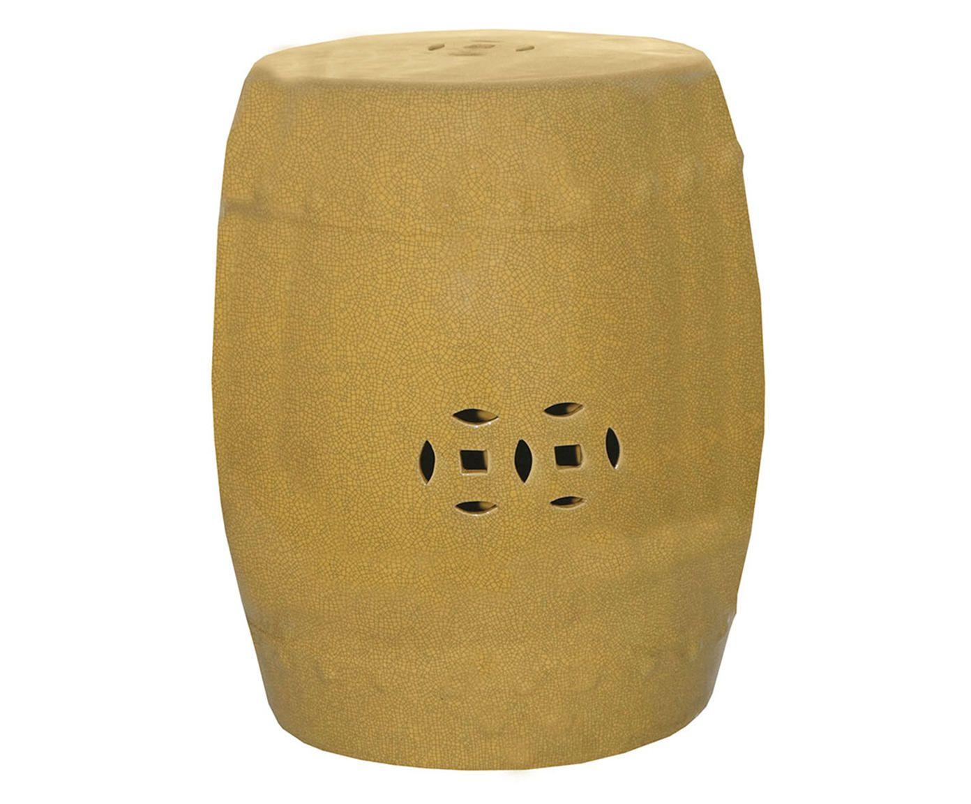 Garden Seat em Porcelana Duas Moedas Bege - 48X40cm | Westwing.com.br